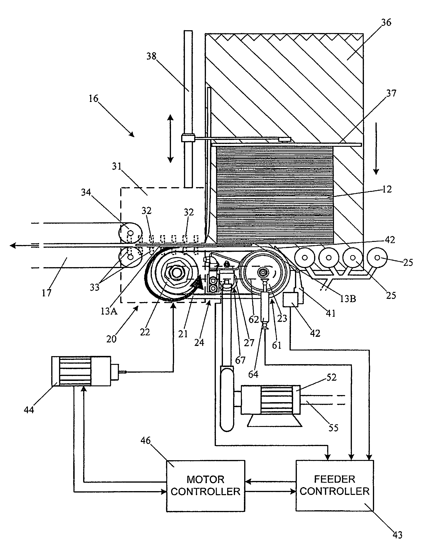 us7766318 pickoff mechanism for mail feeder Vacuum Pump patent drawing