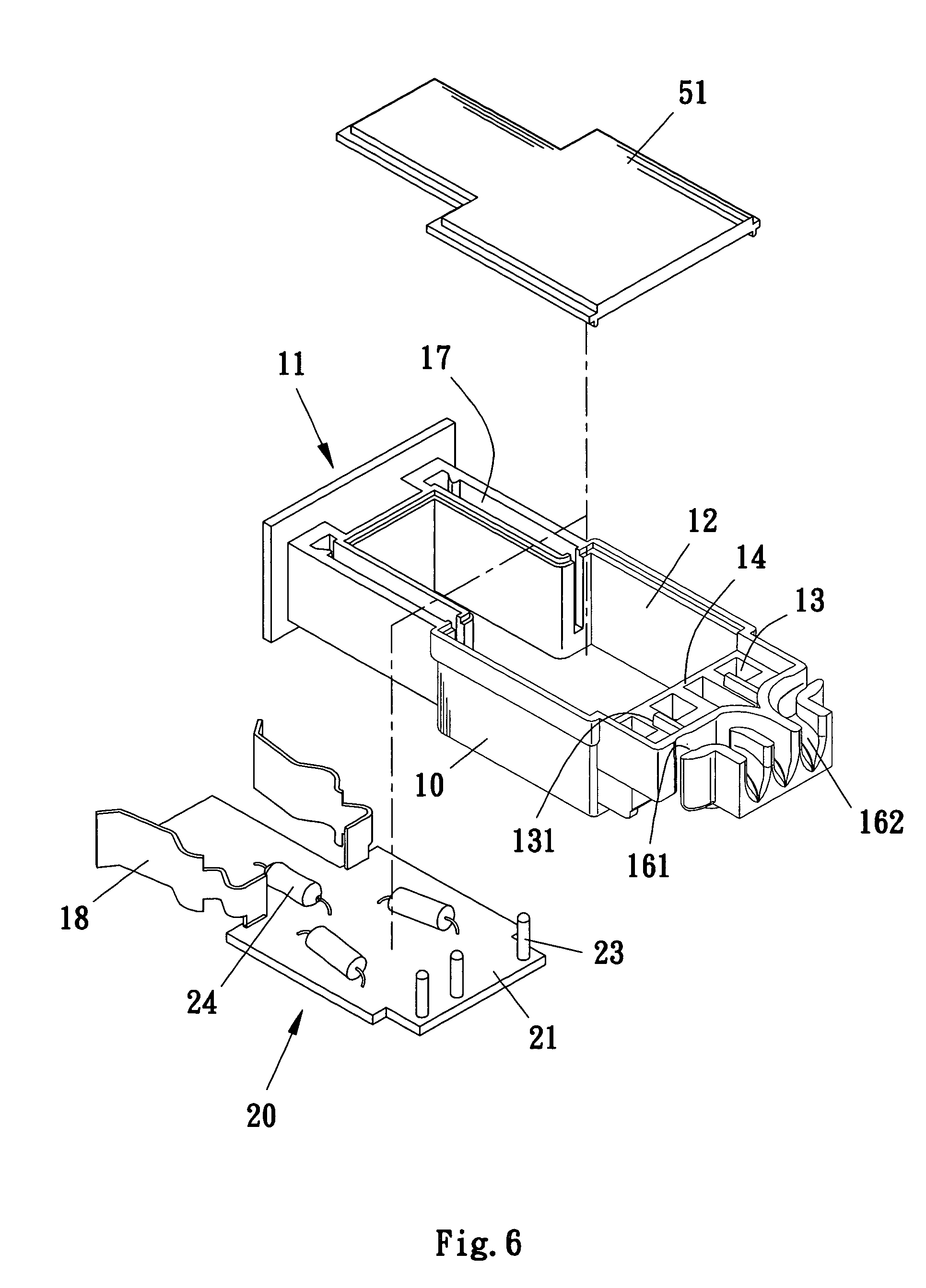 patent us7766681 - waterproof electric plug or receptacle for led light string