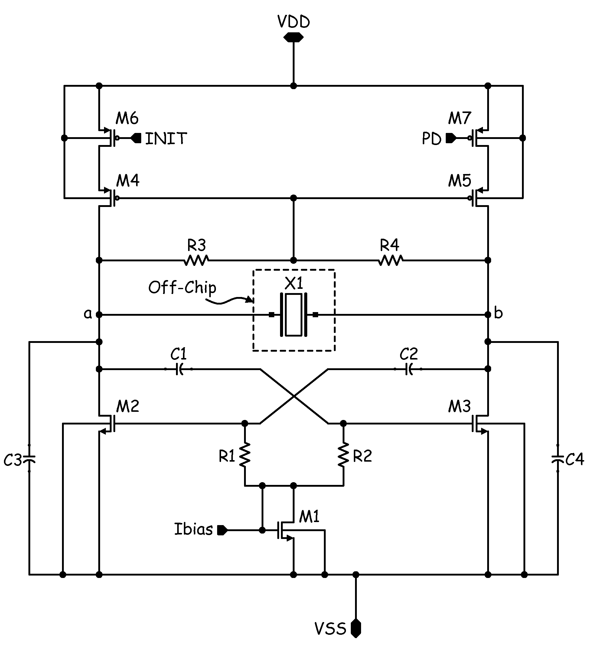 Draw Circuit Diagram Of Crystal Oscillator Patent Us7768359 Low Phase Noise Differential