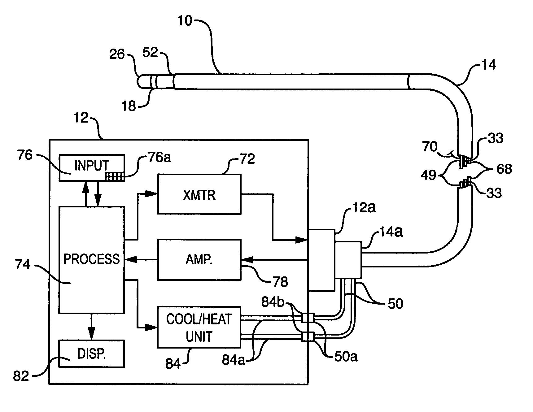 Patent Us7769469 Integrated Heating Sensing Catheter Apparatus For Heat Sensor Circuit Schematic Drawing