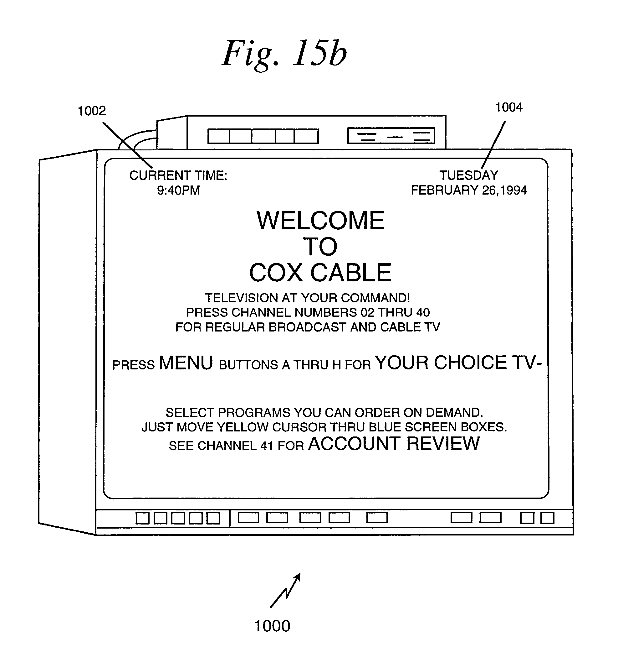 US B1 Set top terminal for organizing program options available in television delivery system Google Patents