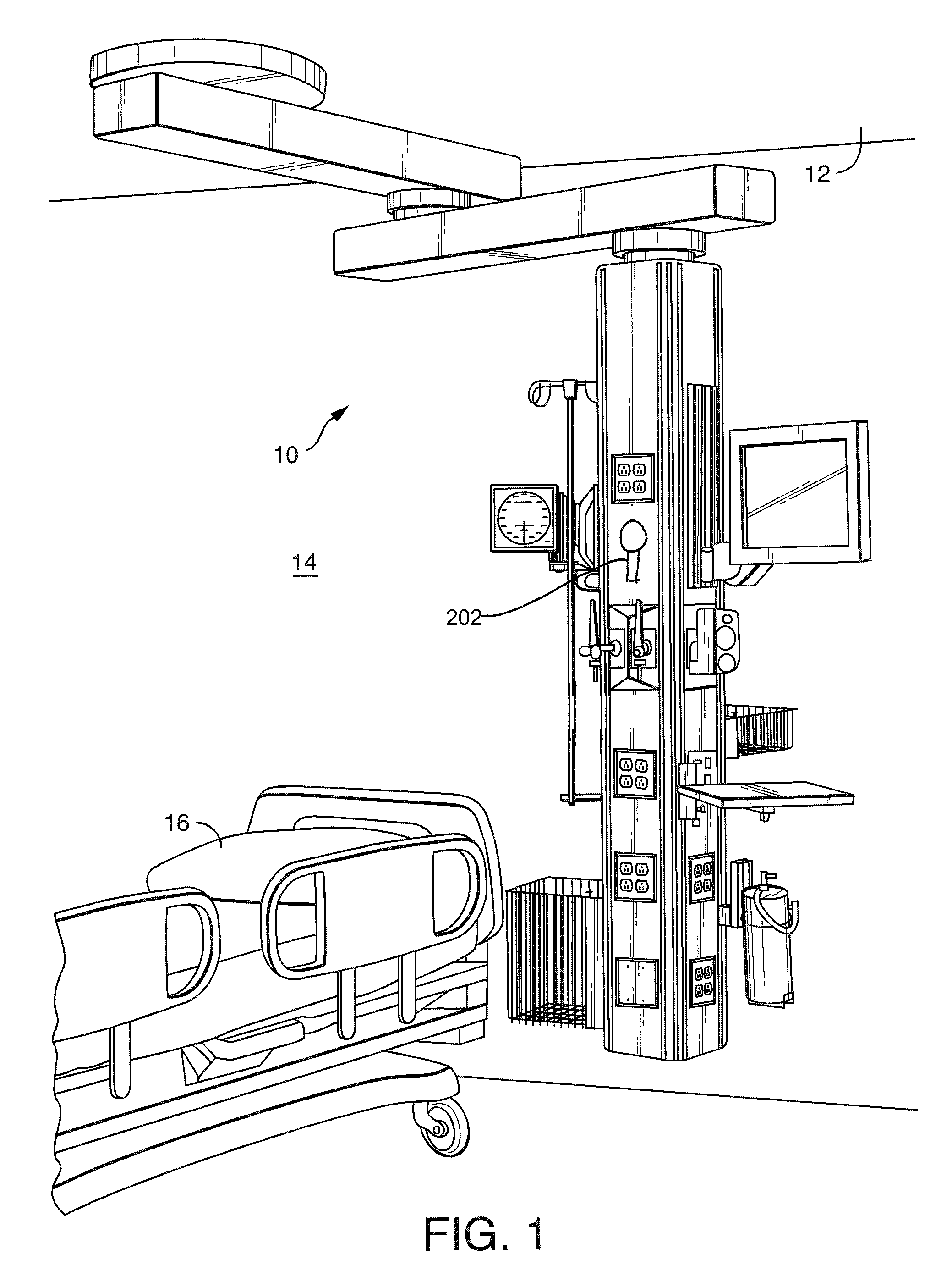 Patent Us7770860 Medical Service System On Articulating Arm With Parallel Wiring A Junction Box Free Download Diagram Drawing