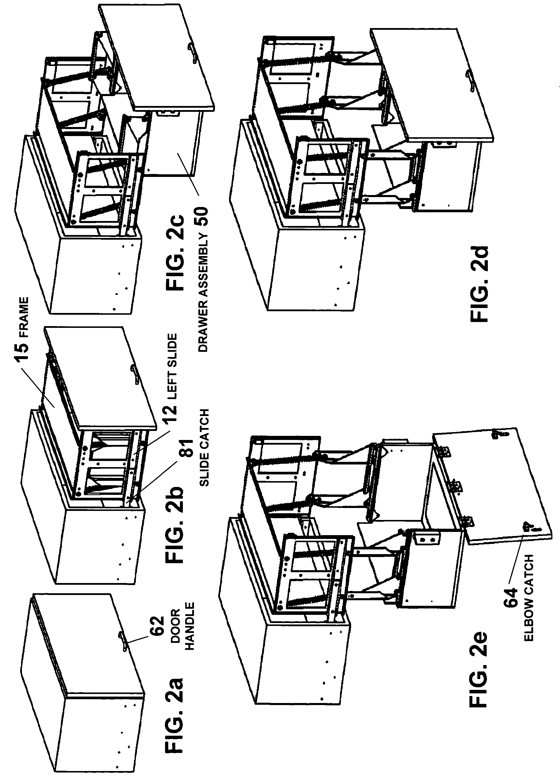 Patent Us7770986 Overhead Pull Out Swing Down Drawer