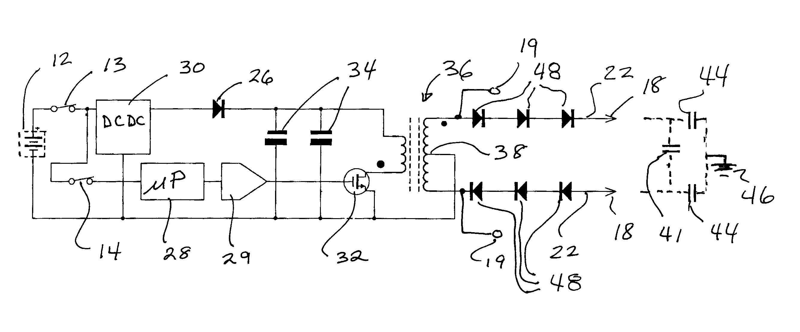 Stun Gun Circuit Auto Electrical Wiring Diagram Taser Electric Fish Shocker Schematic Patent Us7778005