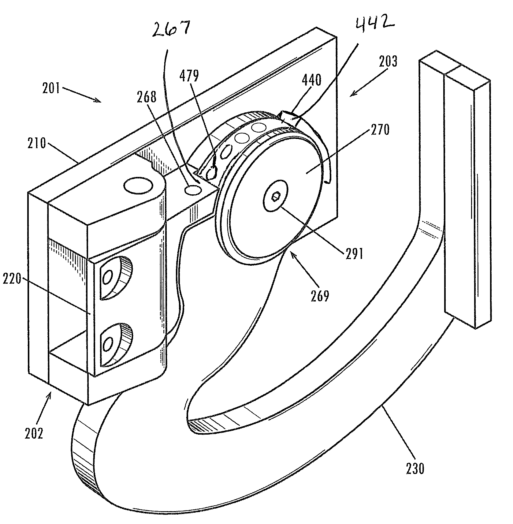 Patent US7779510 - Multi-axis door hinge - Google Patents