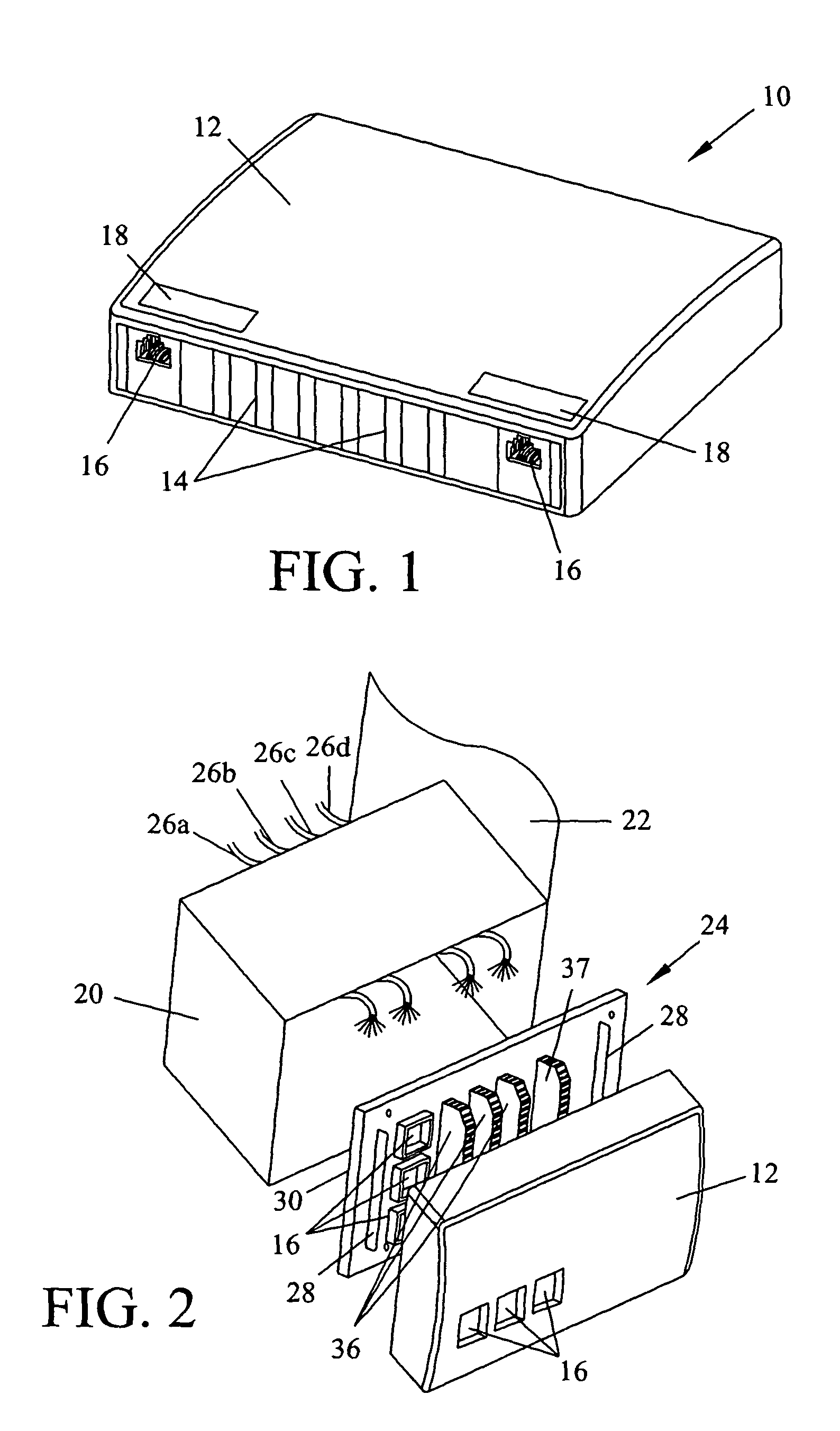 patent us7785138 wireless access point installation on an outlet  patent drawing