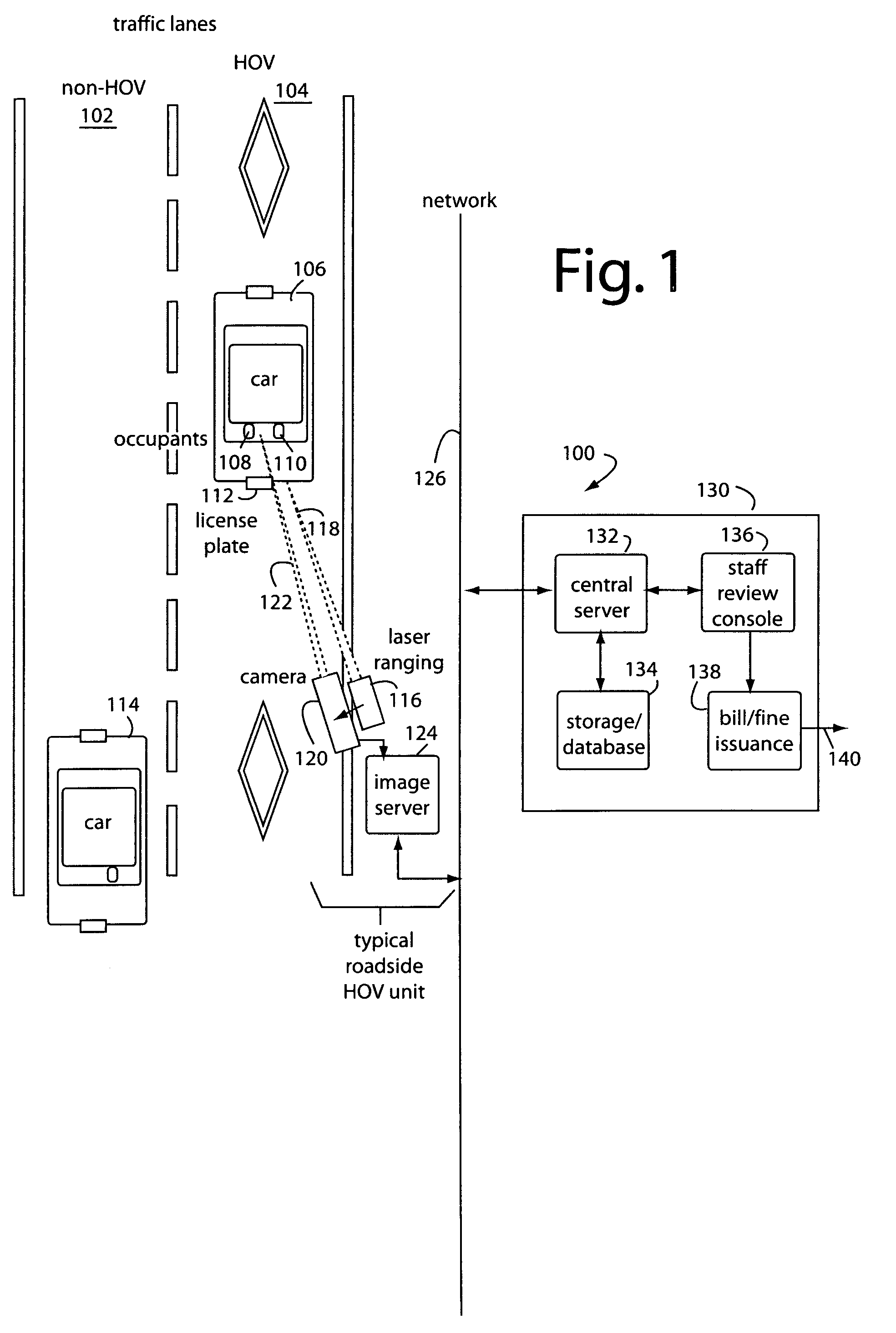 Patent Us7786897 High Occupancy Vehicle Hov Lane