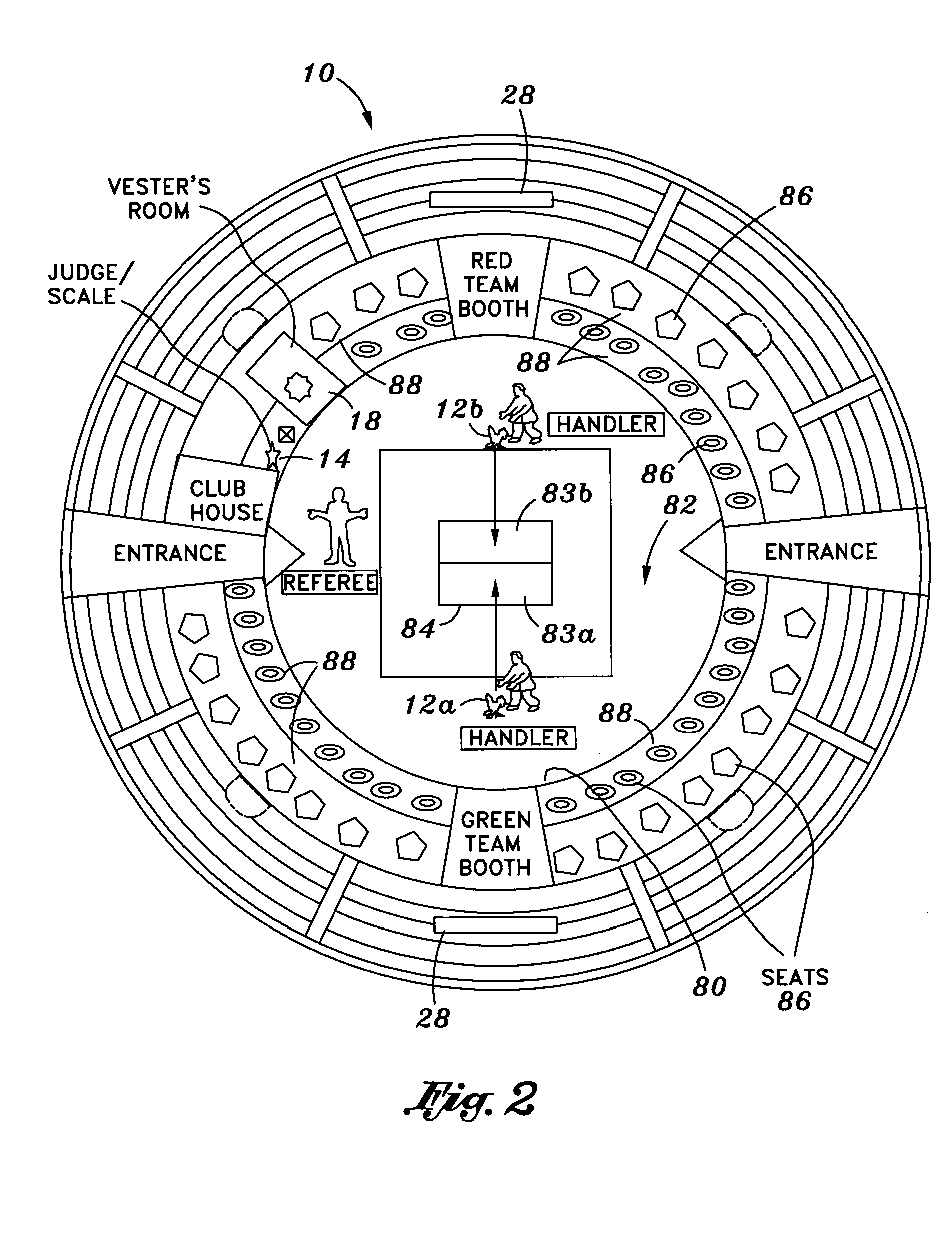 Patent us7789046 non lethal gamecock sparring match equipment and