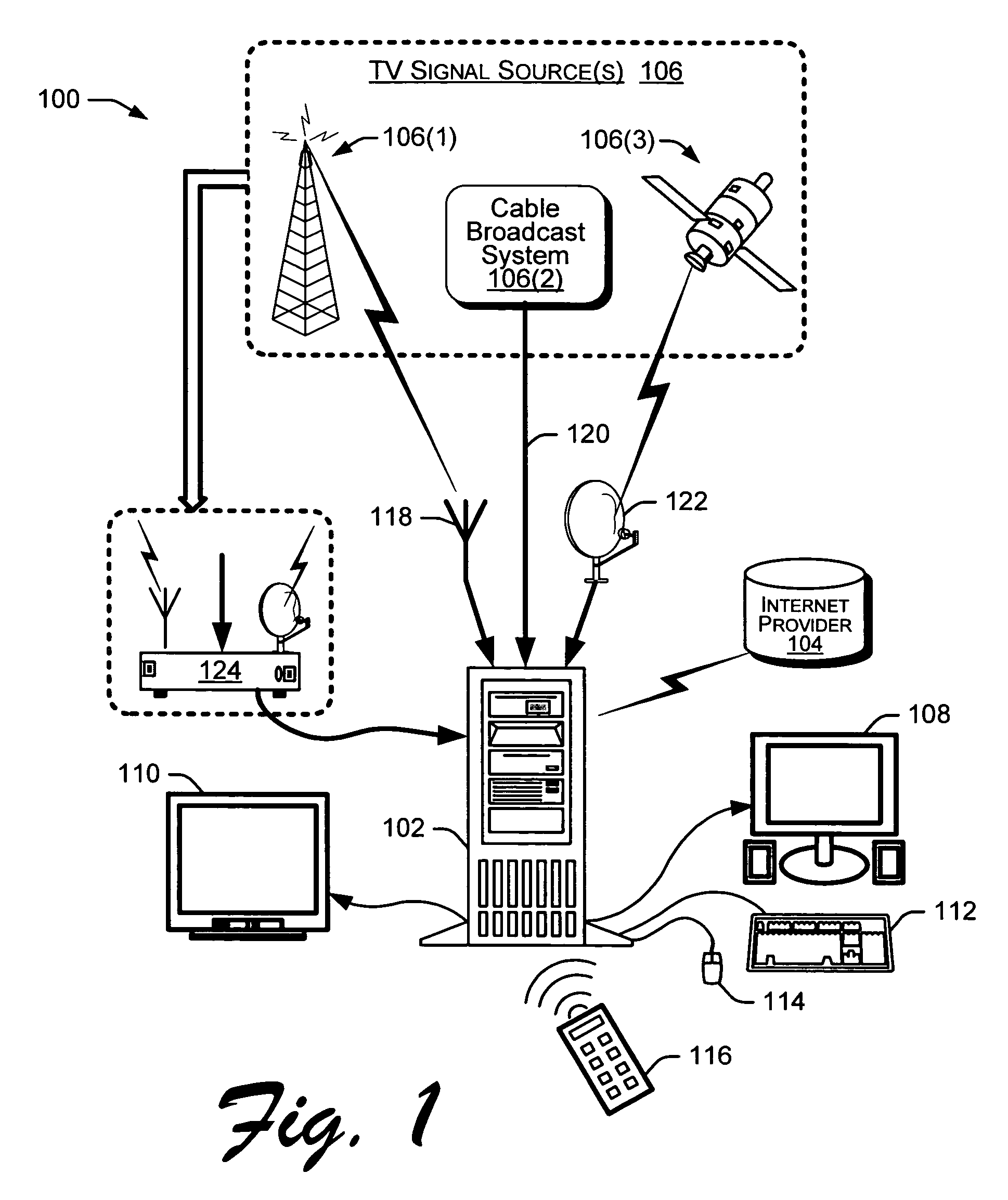 patent us7792507 automatic tv signal and tuner setup patents Digital Cable Tuner Box patent drawing