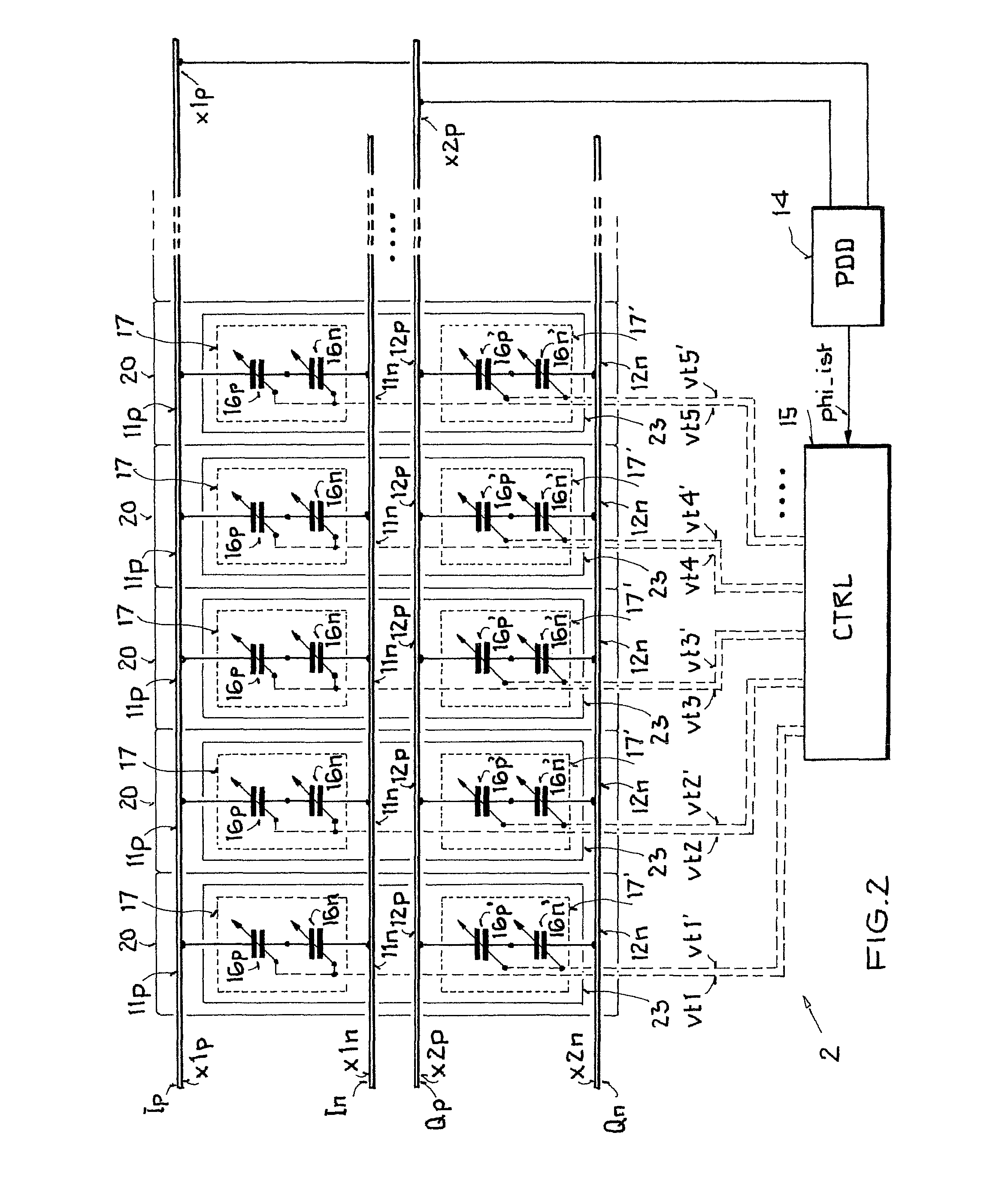 patent us7795991 - integrated circuit arrangement to set a phase difference