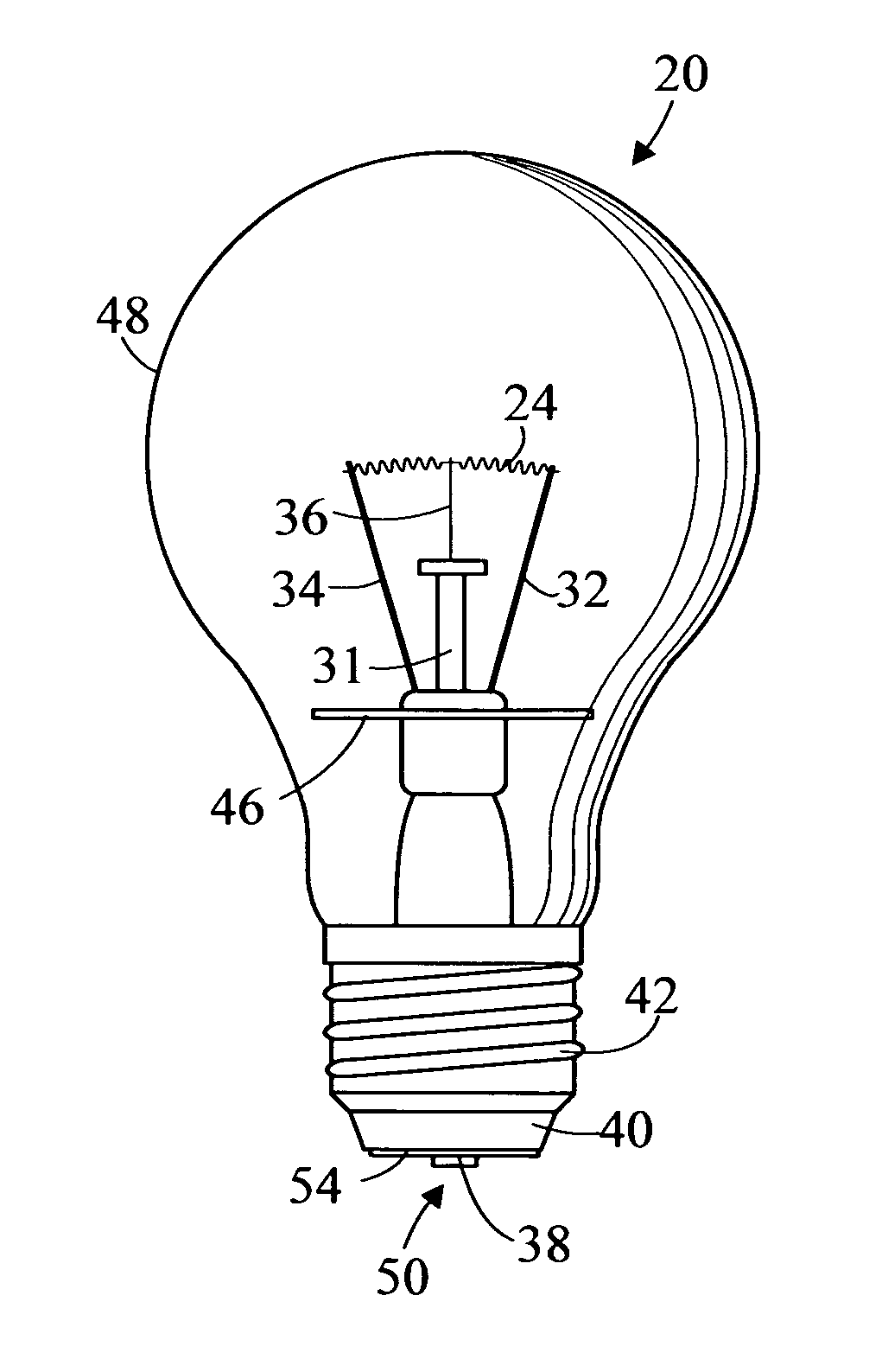 patent us7804233 - light bulb and method of use