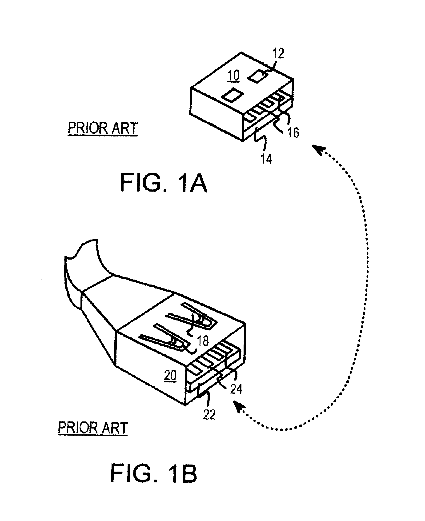 patent us7815469 dual personality extended usb plugs and Internal USB 10-Pin Cable patent drawing