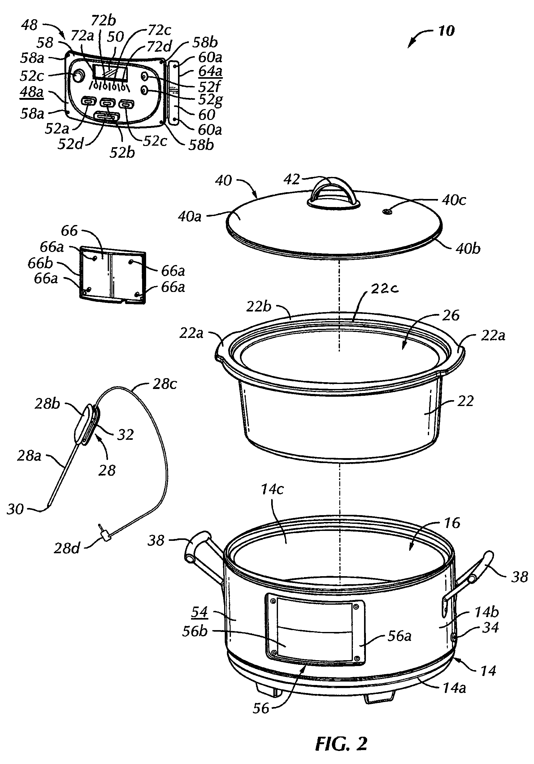 Patent Us7820947 Slow Cooker Google Patents