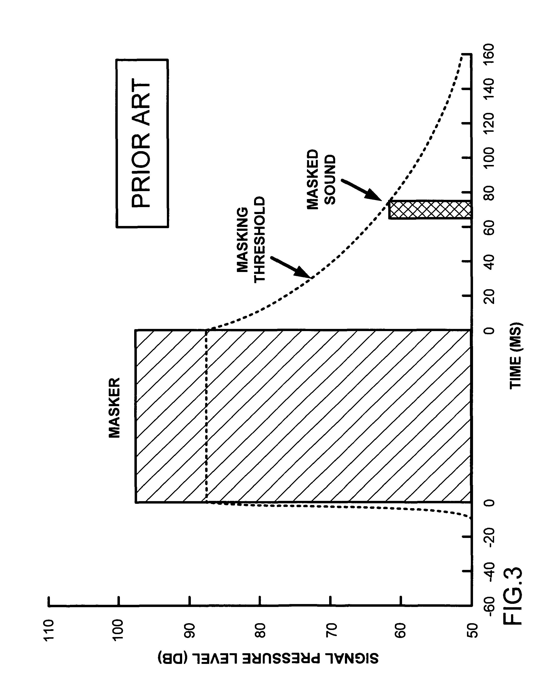 Patent US7835904 - Perceptual, scalable audio compression