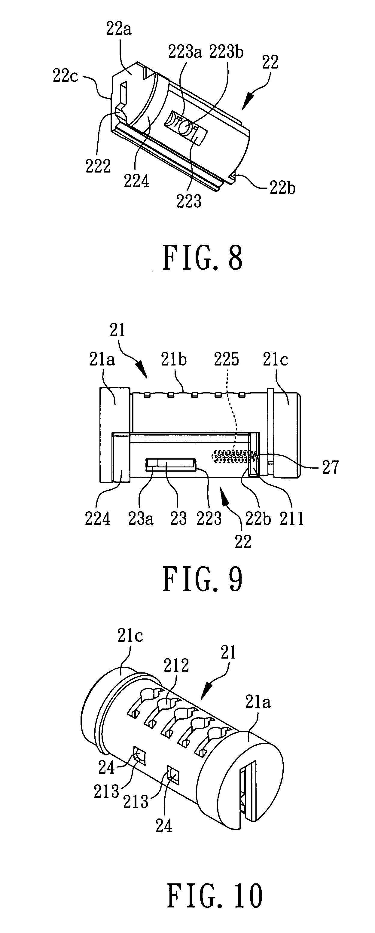 Patent Us7836739 Rekeyable Lock Cylinder Structure