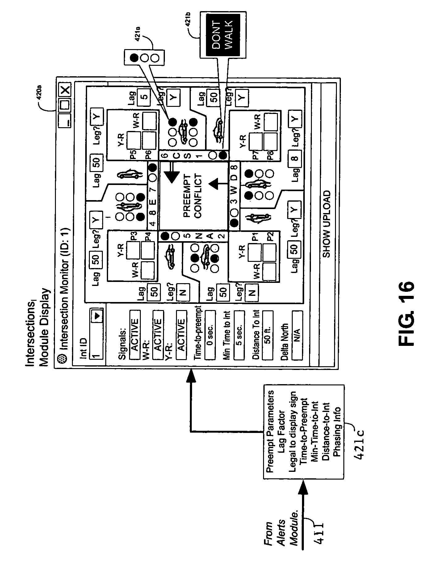 patent us7864071 - emergency vehicle traffic signal preemption system