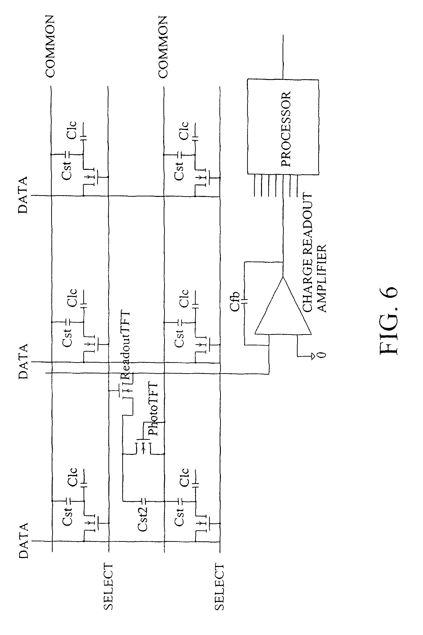 Patent Us7880733 Light Sensitive Display Google Patents Charge Amplifier Circuit Drawing