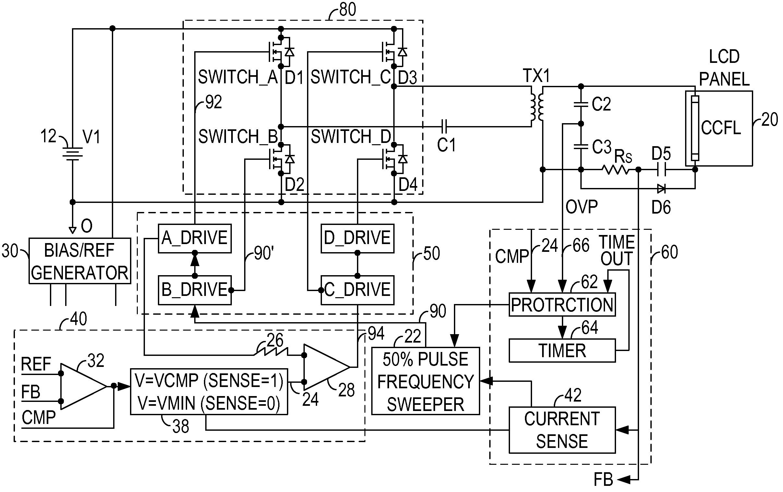 patente us7881084  ac cold cathode fluorescent lamp