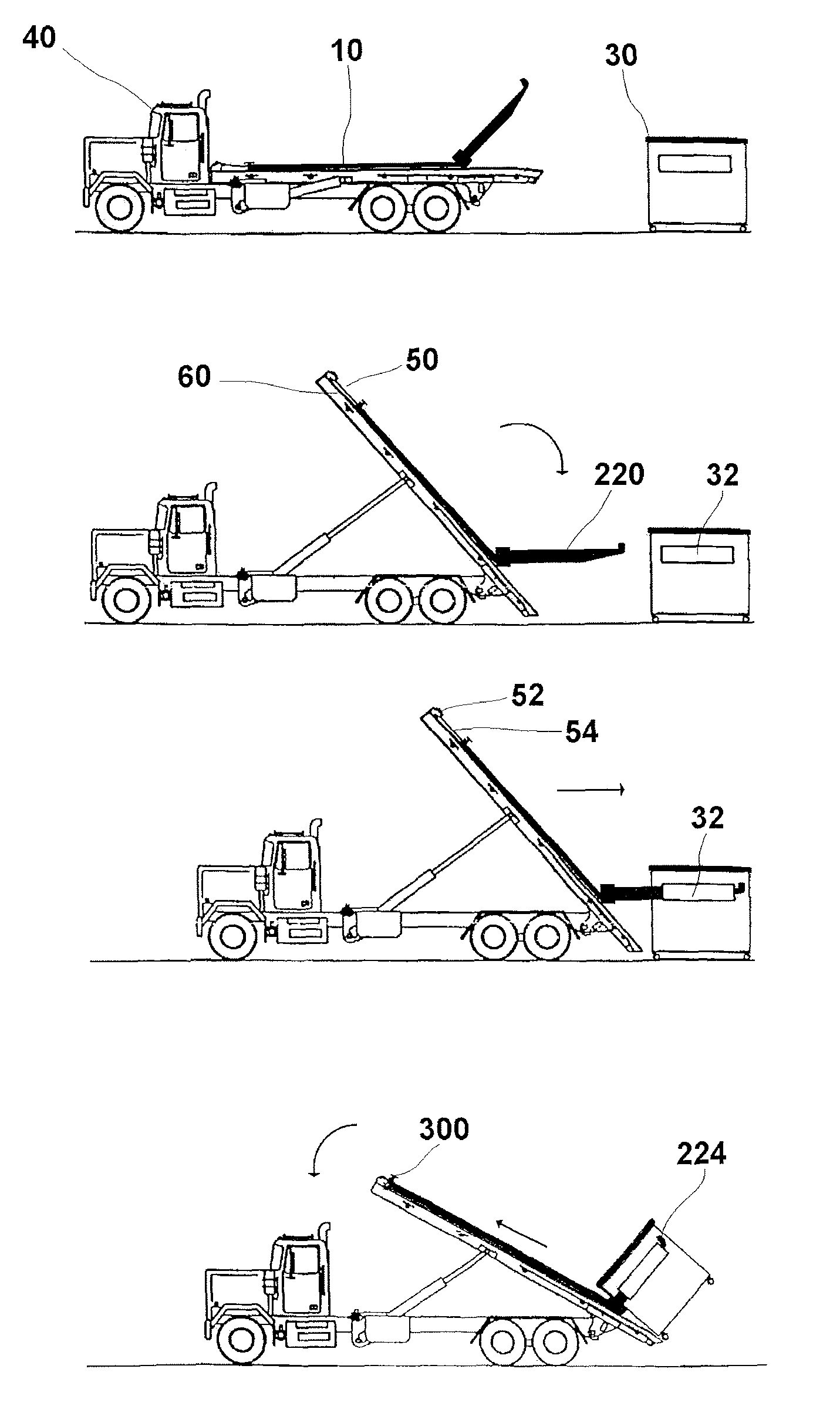 Patent Us7883310 Roll Off Truck Bed Adapter For Use With