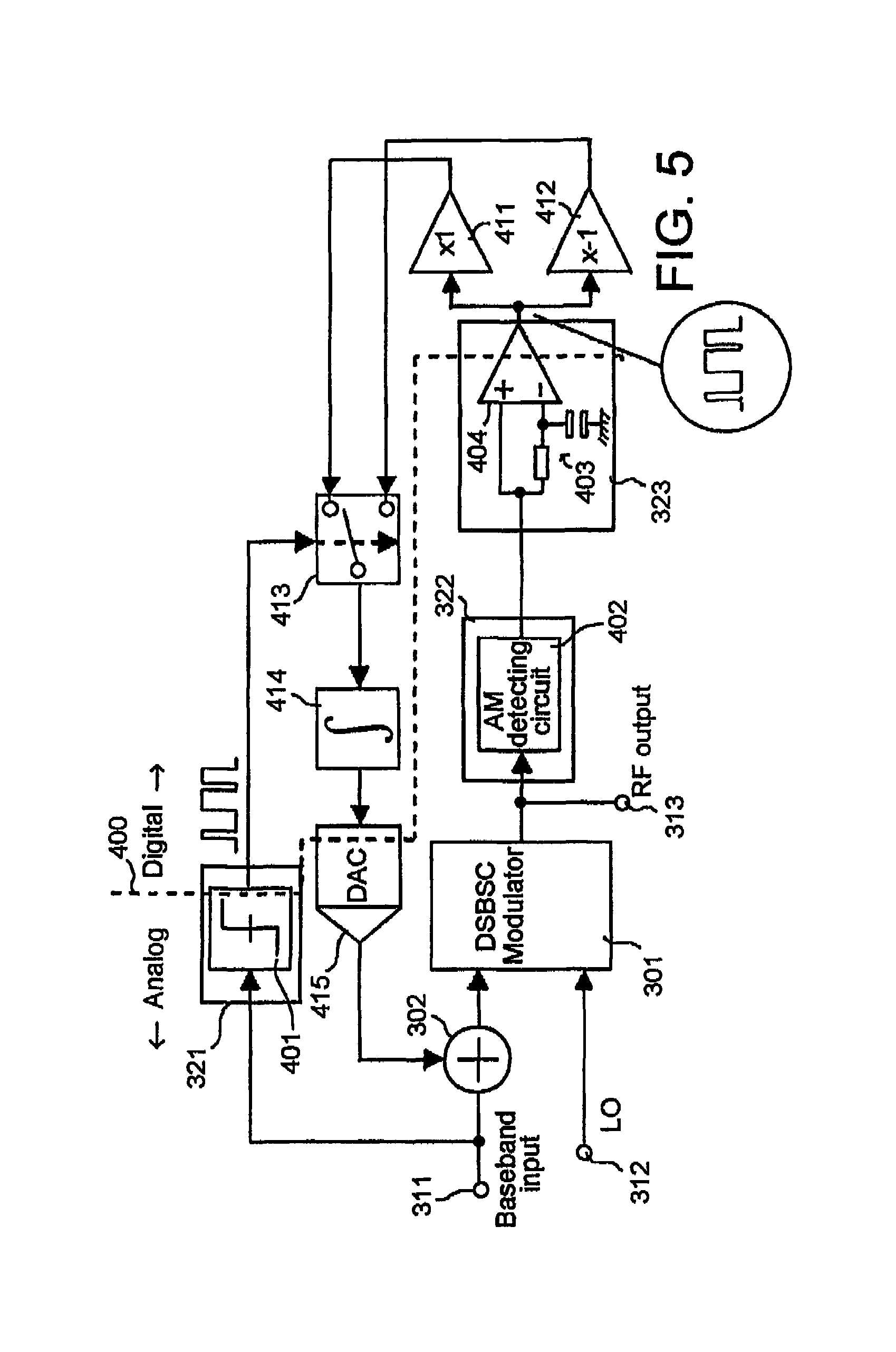 Patent Us7893787 Dc Offset Cancellation Circuit For Modulator Am Drawing