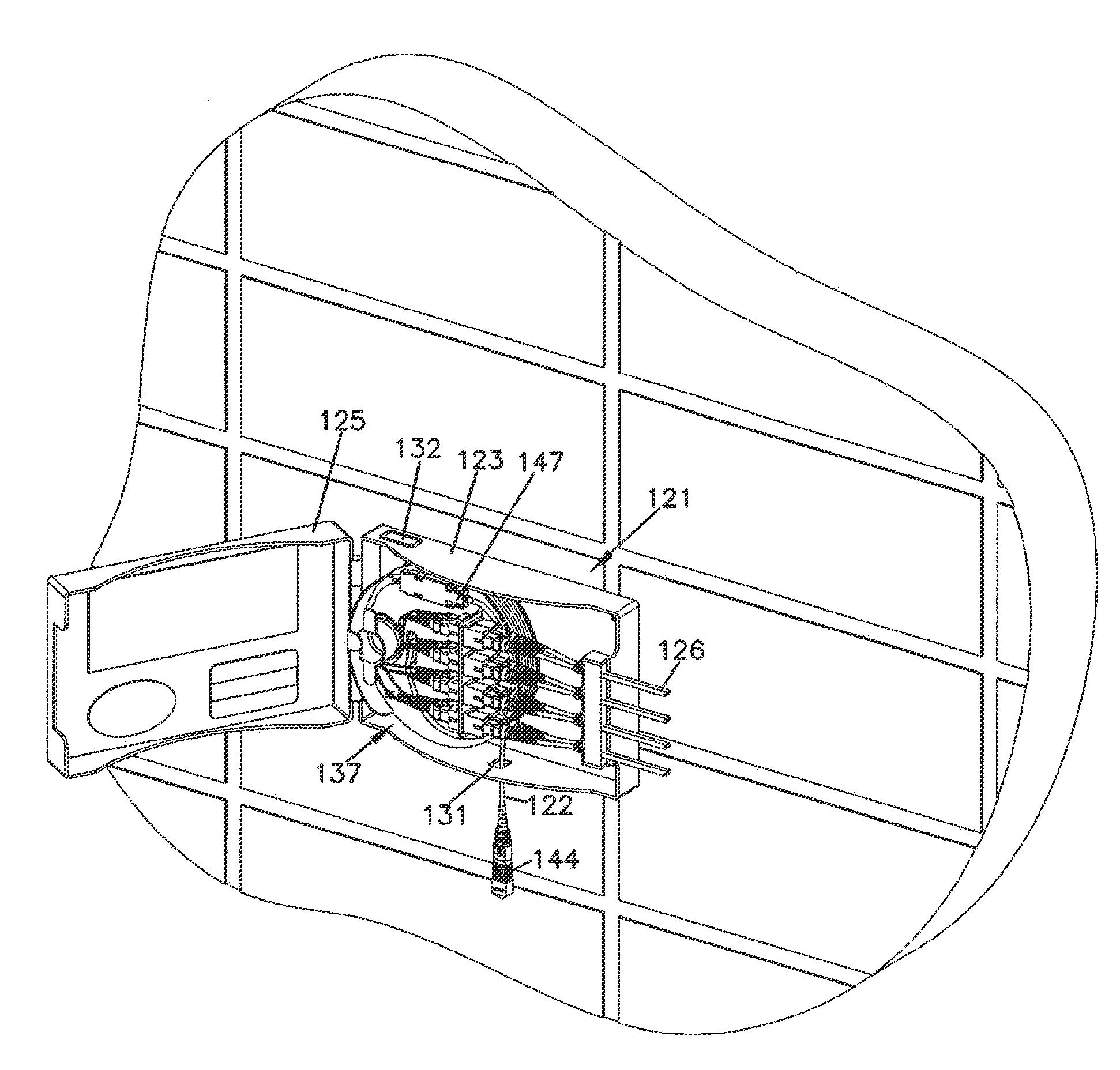 patent us7894701 - fiber optic enclosure with internal cable spool