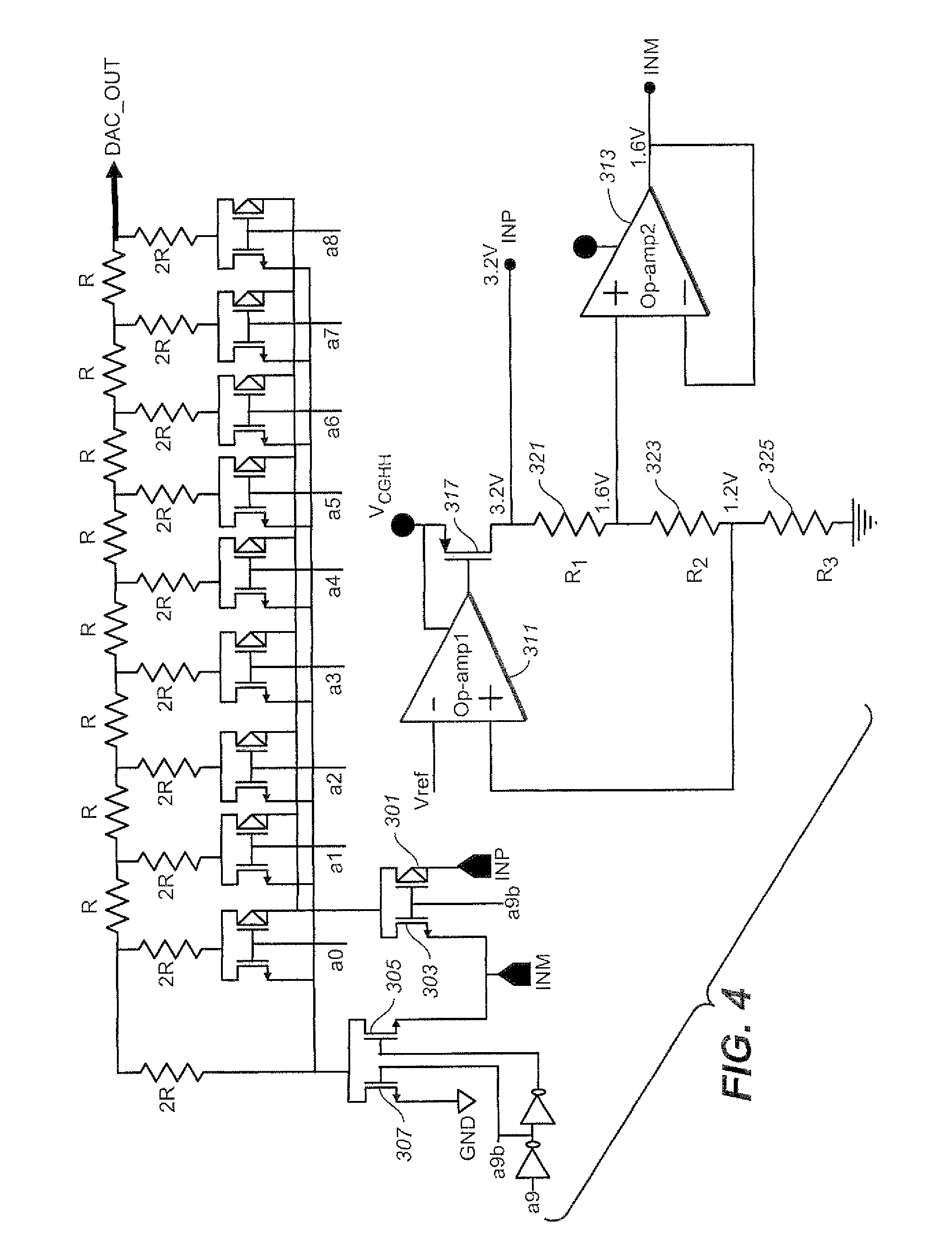 Patent Us7903014 Techniques To Improve Differential Non Linearity Working Of 4 Bit R 2r Ladder D A Converter Circuit 1 Technical Drawing