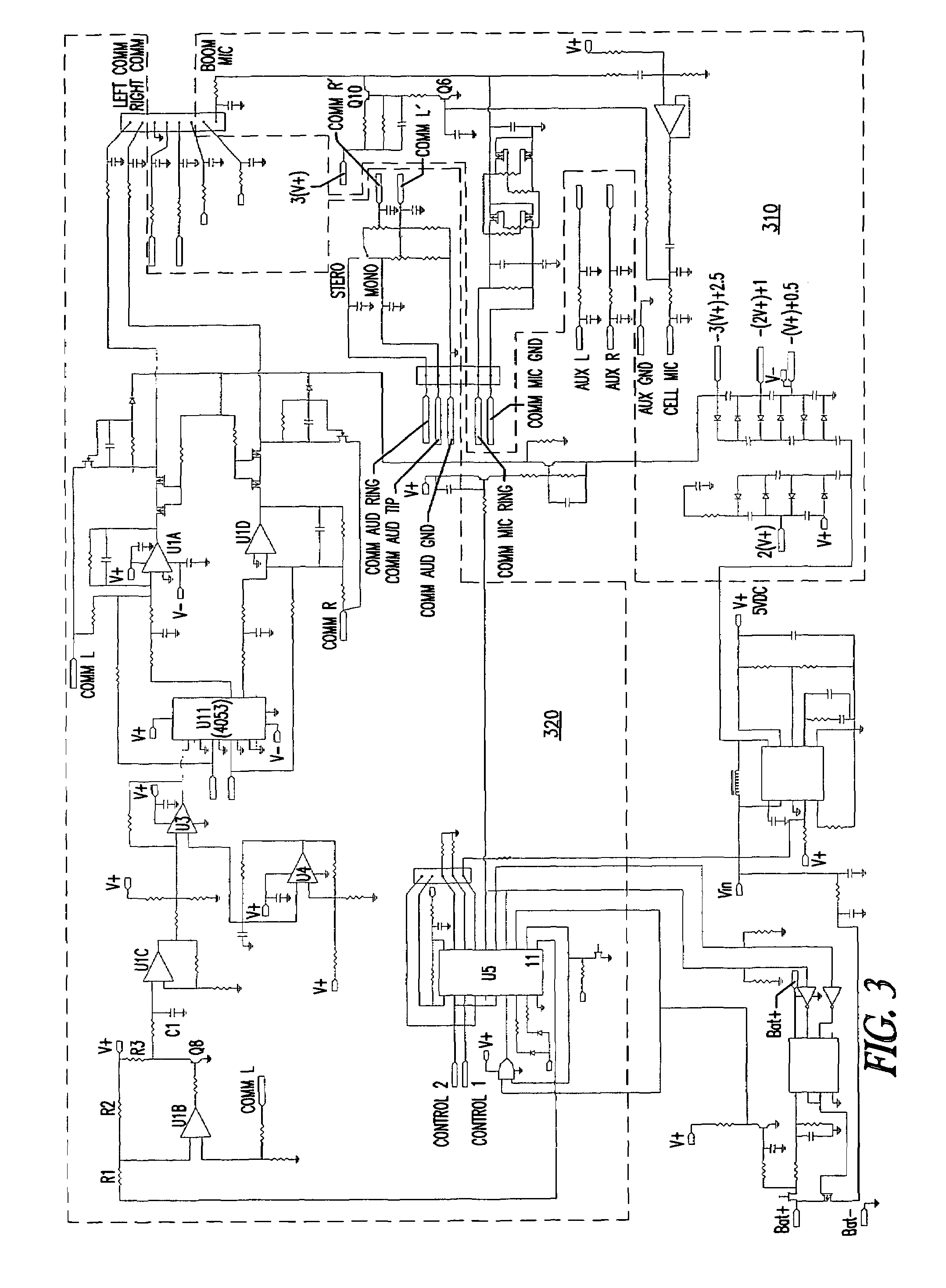 Patent Us7907721 Headset With Auxiliary Input Jacks S