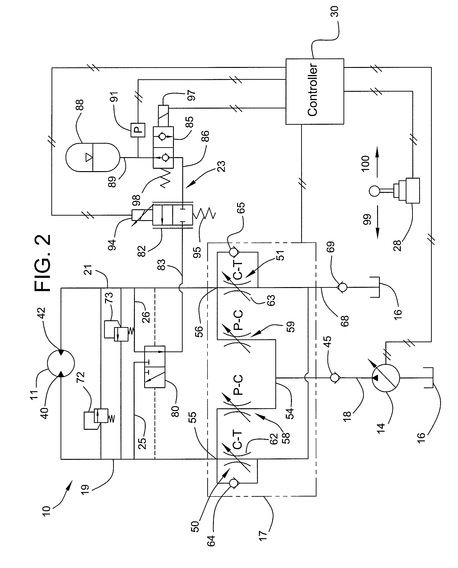 patent us7908852 control system for recovering swing motor kinetic Op Amp Circuit patent drawing