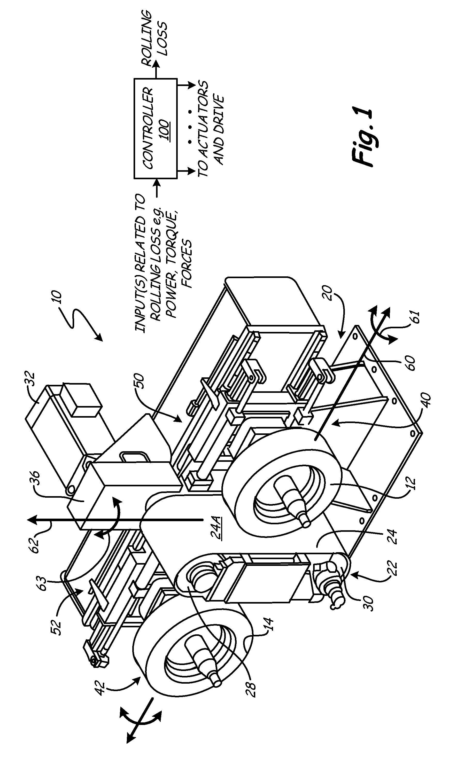 brevet us7908916 flat belt roadway simulator with steer and or  patent drawing