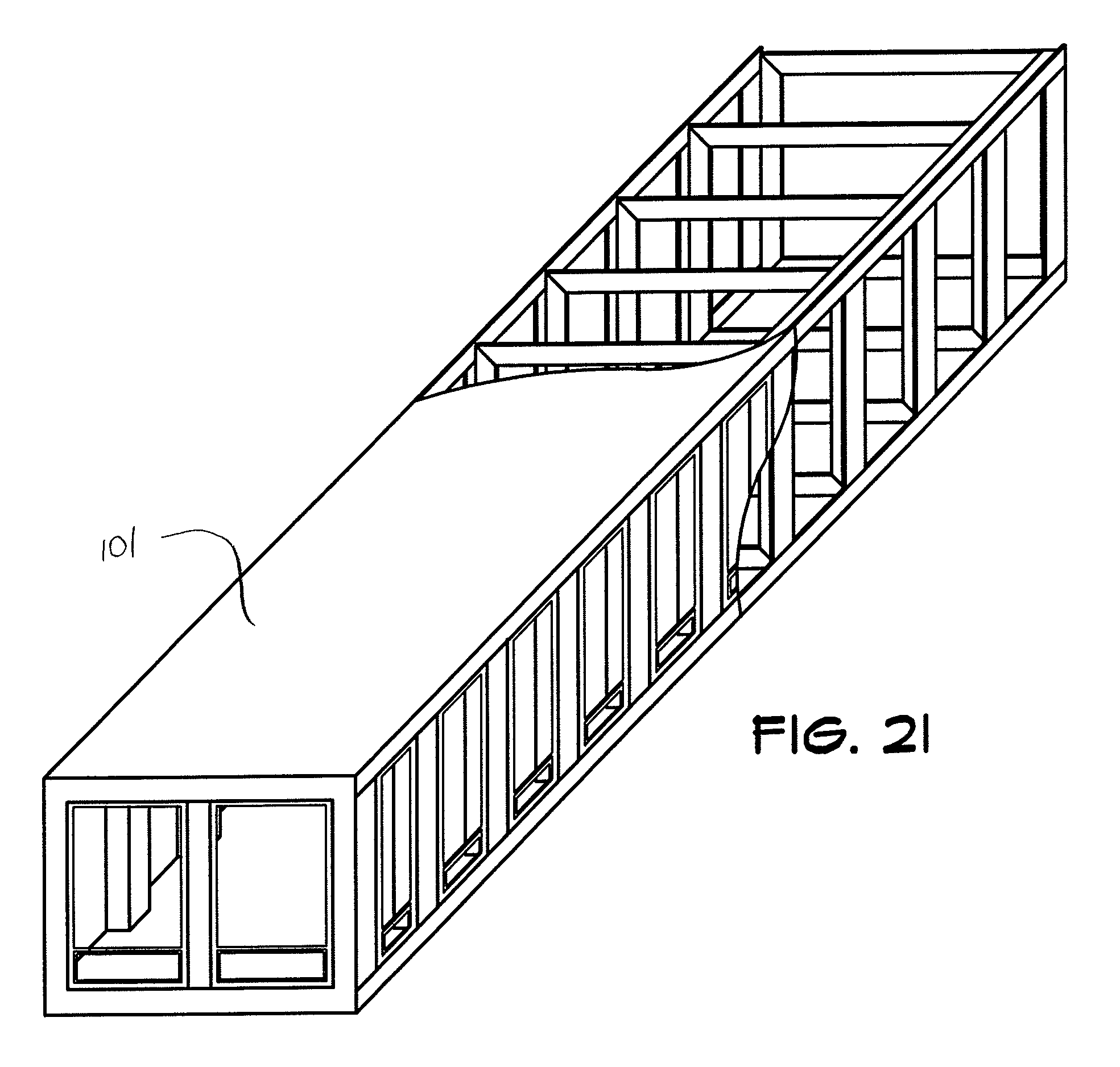 patent us7941984 - wind force resistant structure