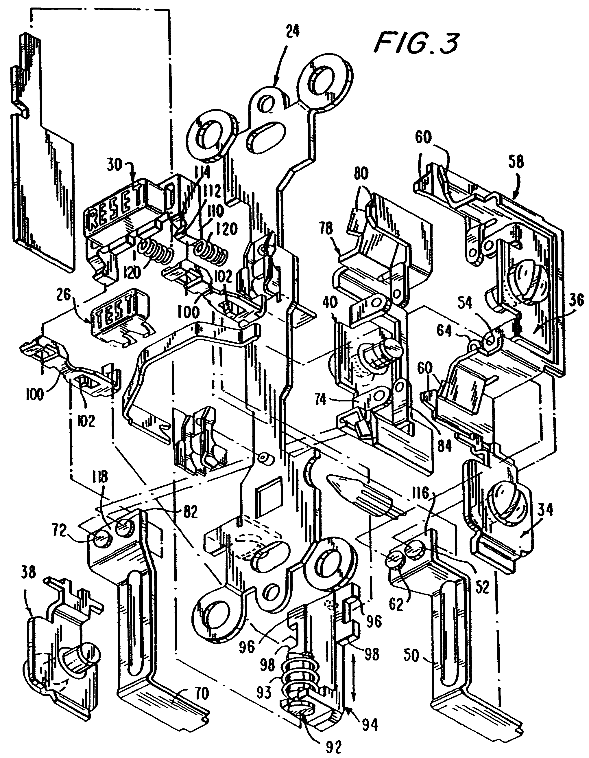 patent us7944331 circuit interrupting device with reverse wiring GFCI Circuit Tester Distributors patent drawing