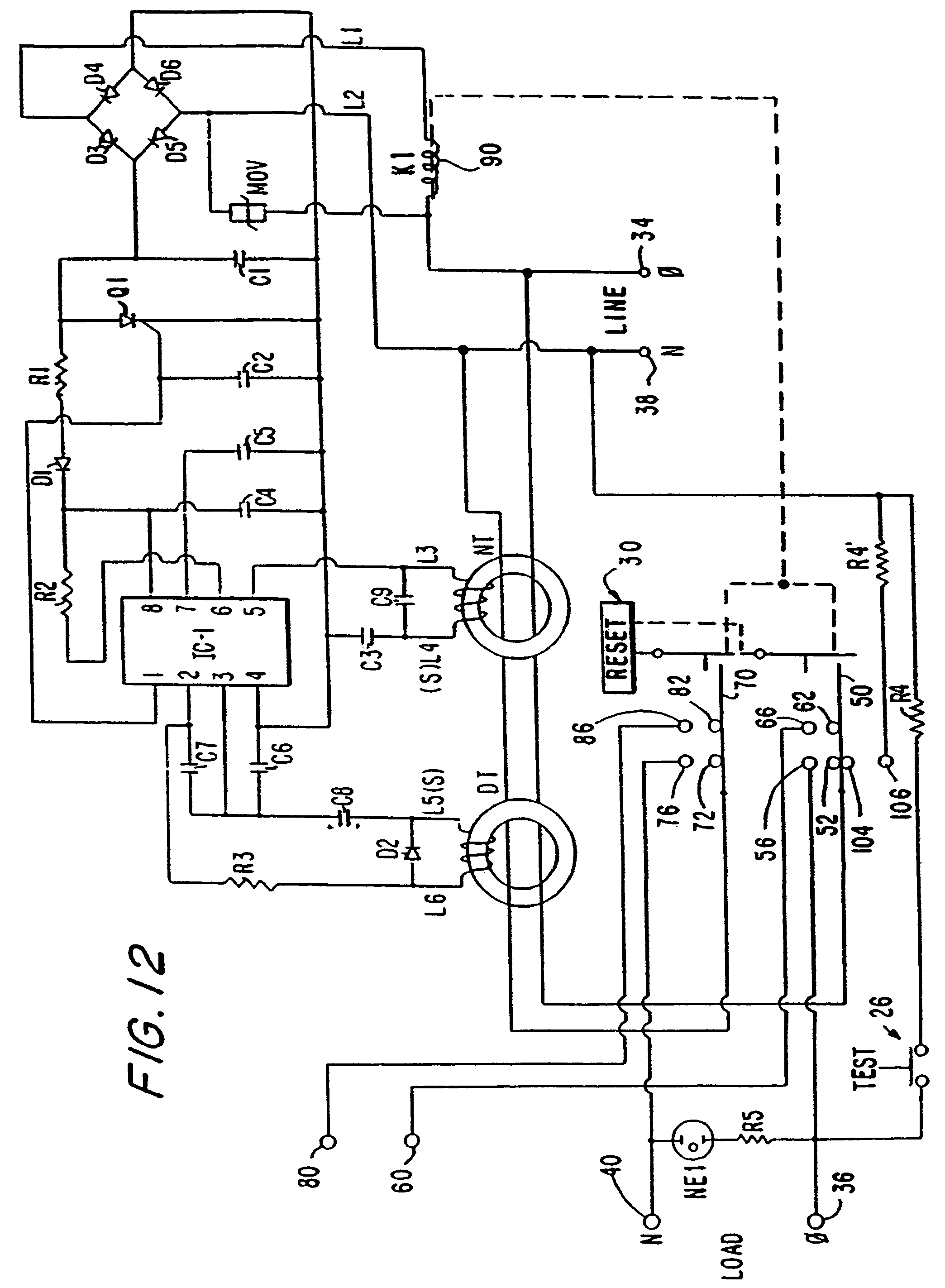 patent us7944331 circuit interrupting device with reverse wiring 230 Volt Wiring Schematic patent drawing