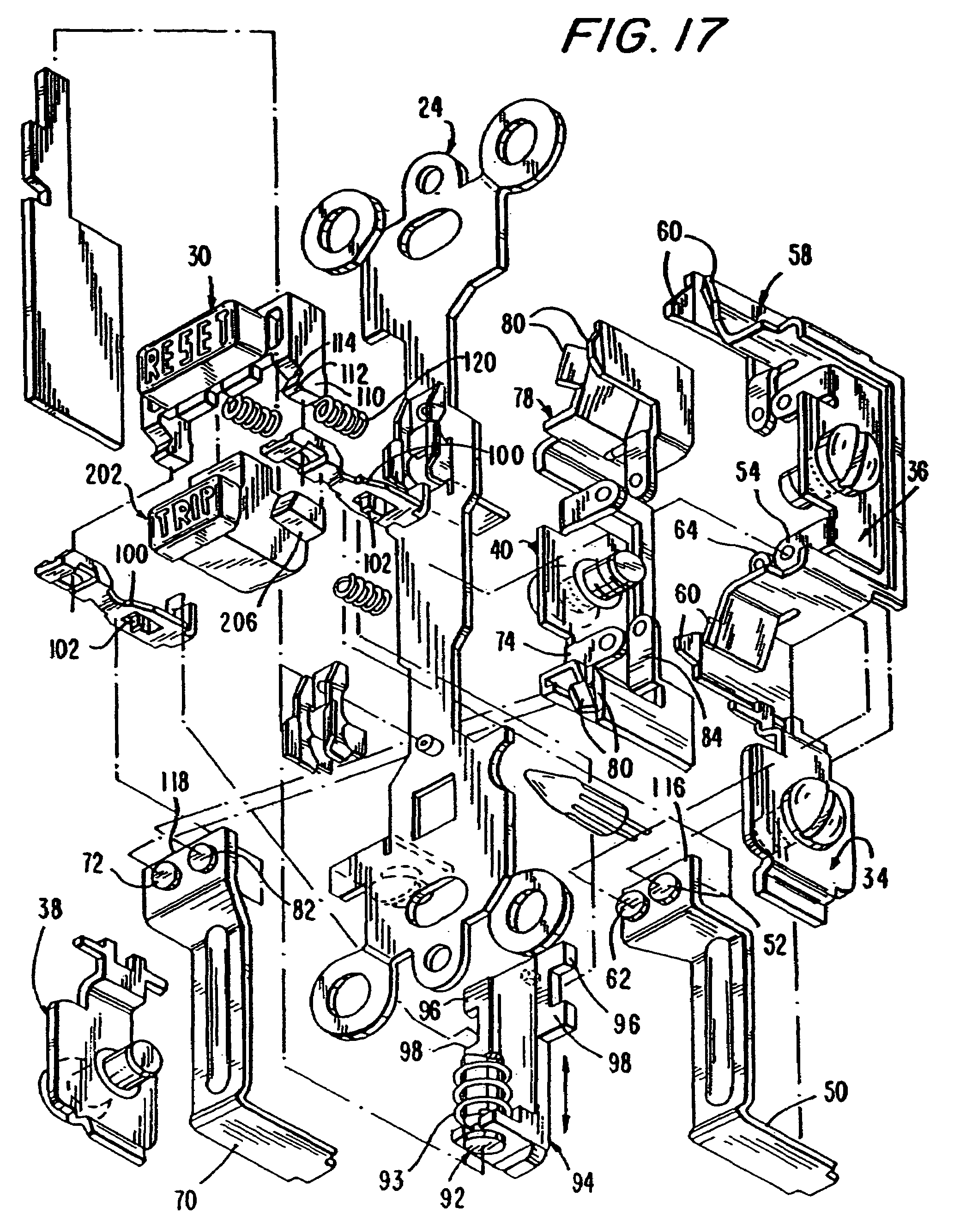 patent us7944331 circuit interrupting device with reverse wiring 220 Volt Wiring Box patent drawing