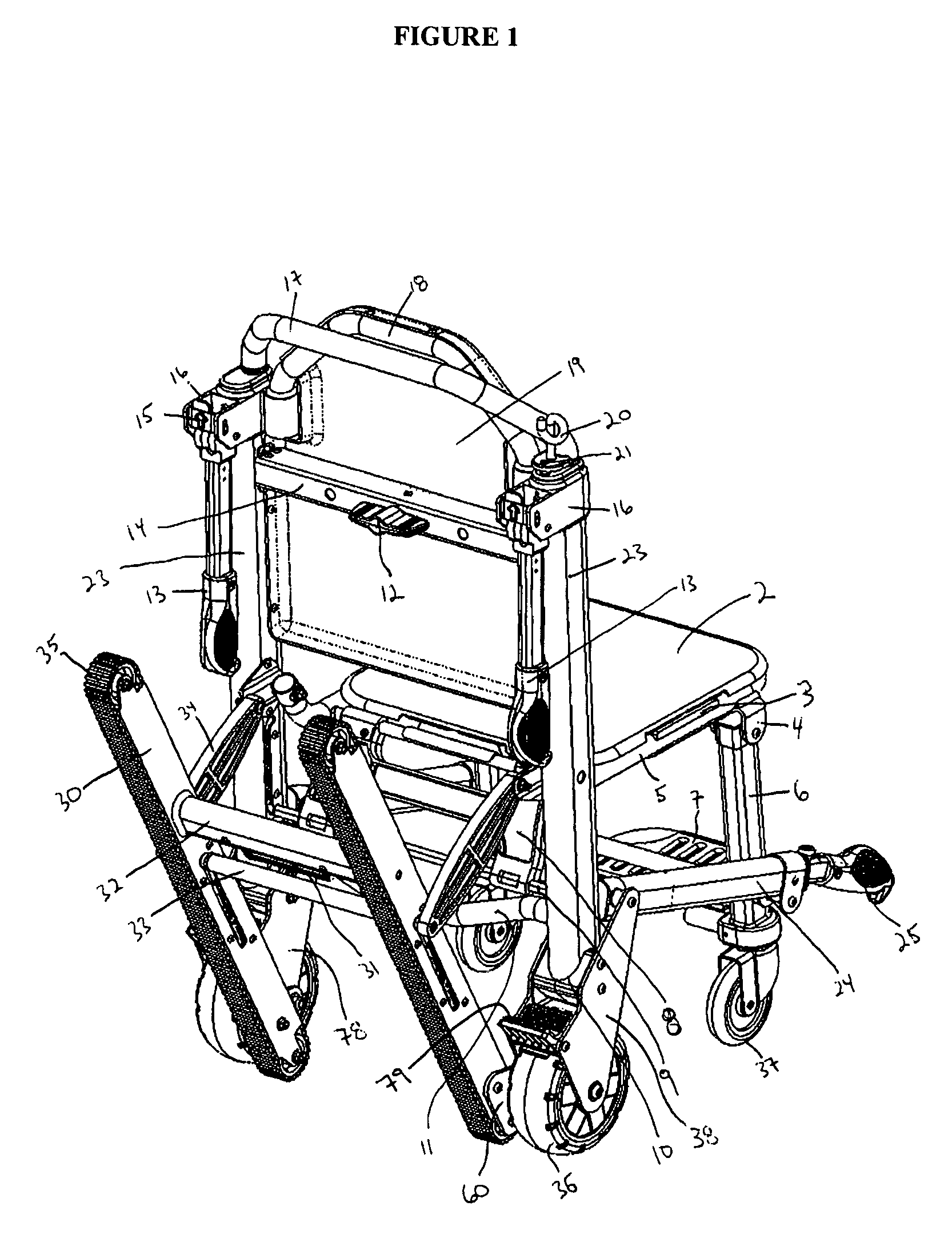 patent us7950673 - stair chair