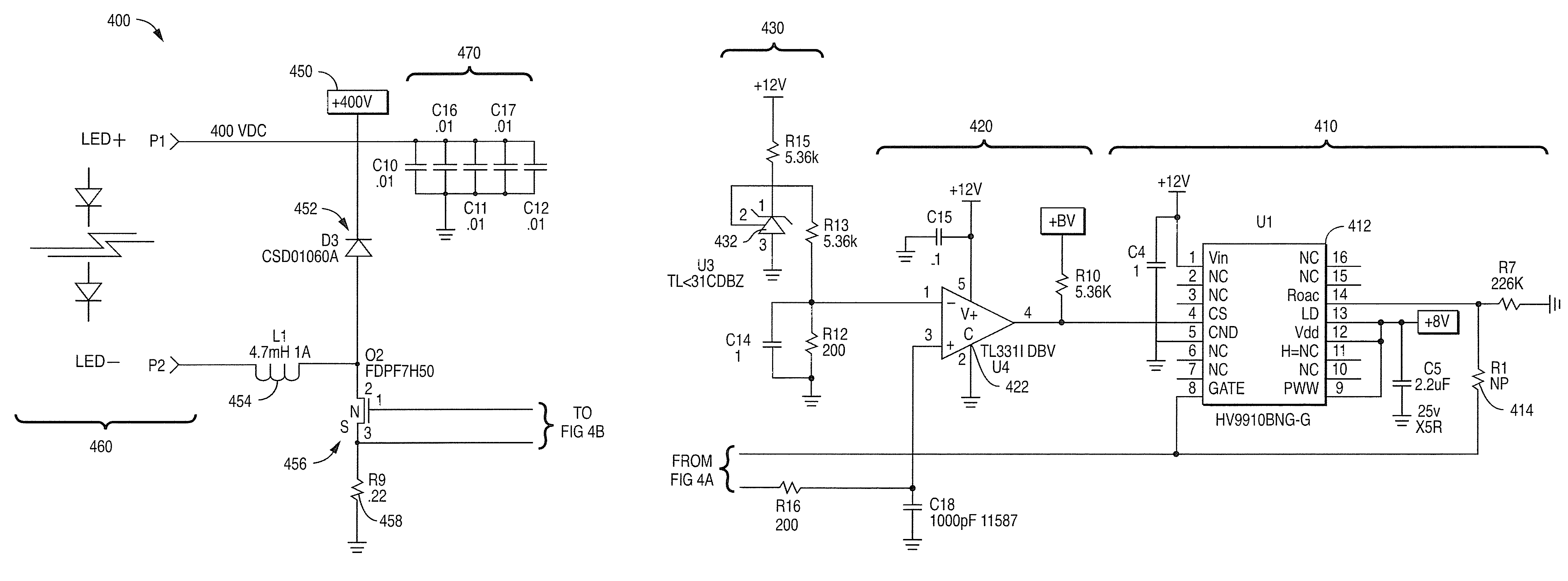 Patent Us7952293 Power Factor Correction And Driver Circuits Ac Led Circuit Diagram In Addition 12 Volt Voltage Regulator Drawing