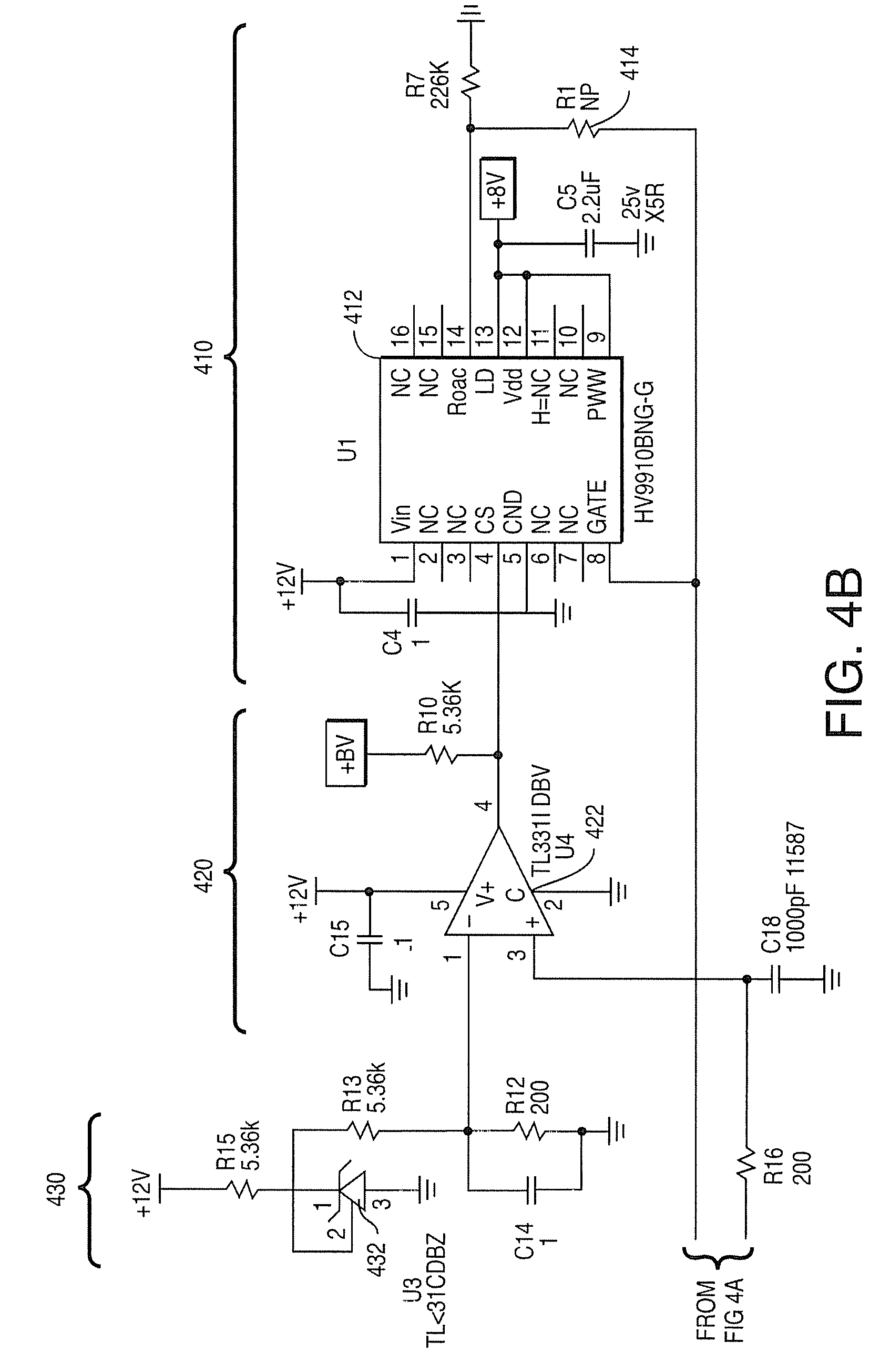 Patent Us7952293 Power Factor Correction And Driver Circuits Furthermore 9 Volt Regulator Circuit On 12v Diagram Drawing