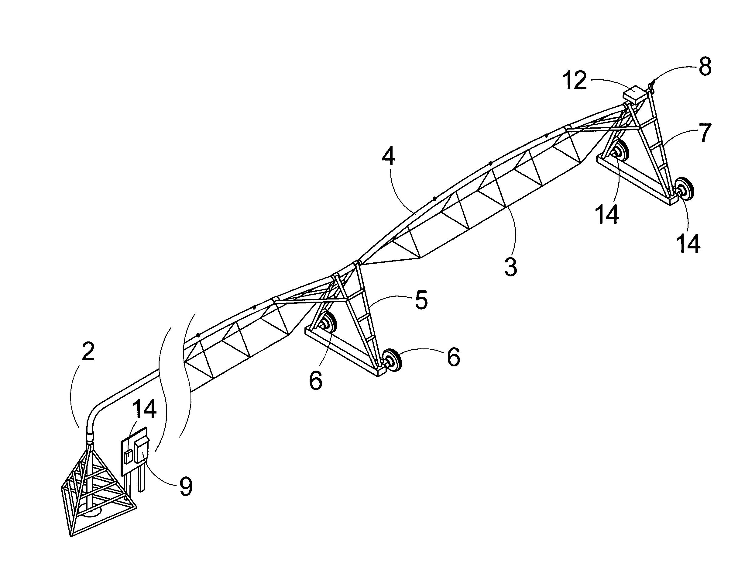 Patent Us7953550 Center Pivot Irrigation System Position