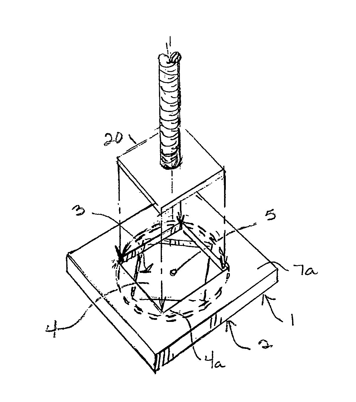 Patent US7958967 - Mud sill - Google Patents