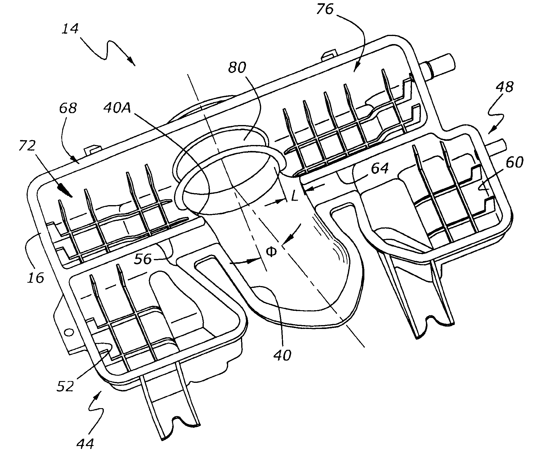 patent us7967106 air induction sound modification system for Old Internal Combustion Engine patent drawing