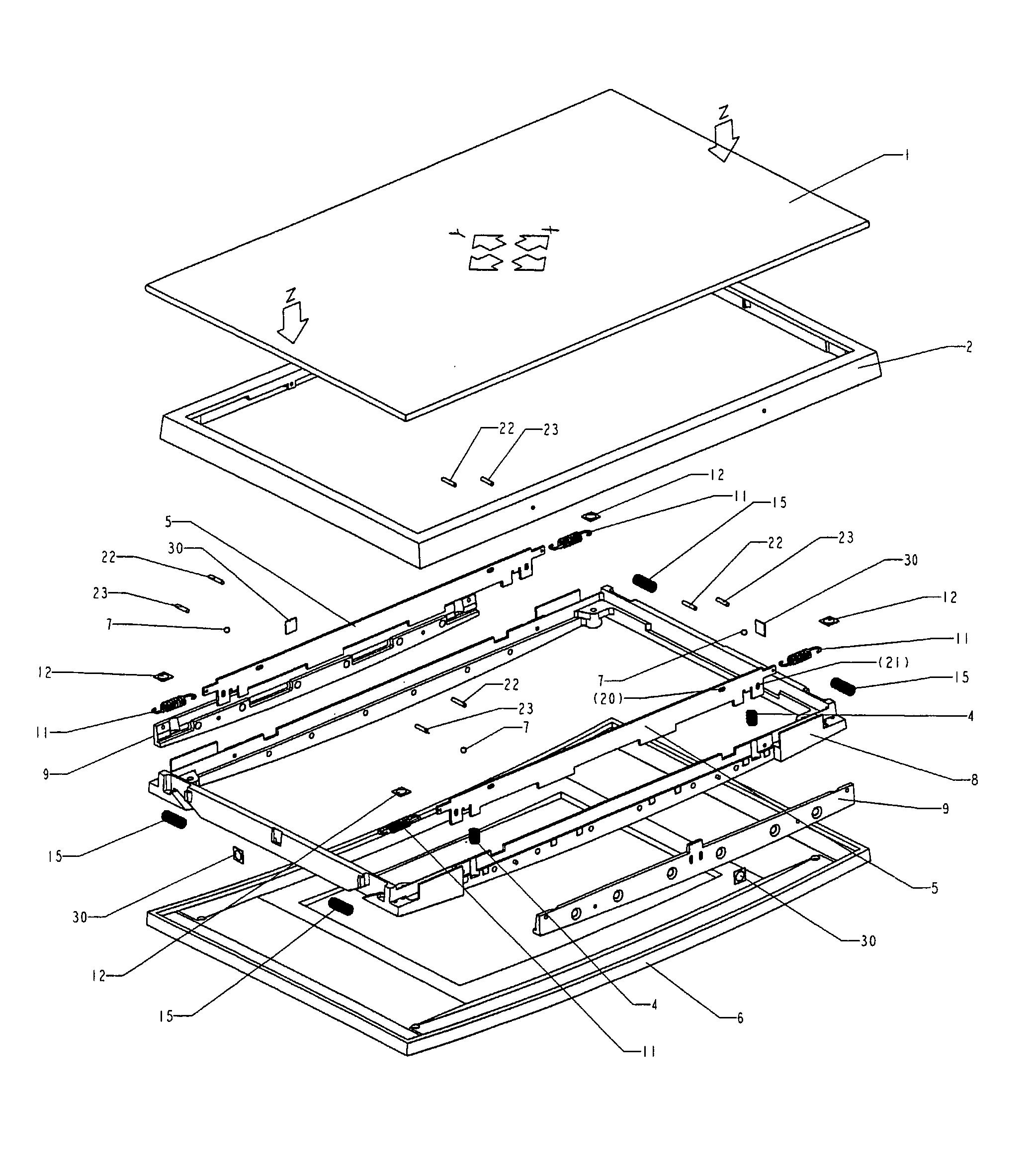 patent us7969411 - operating panel