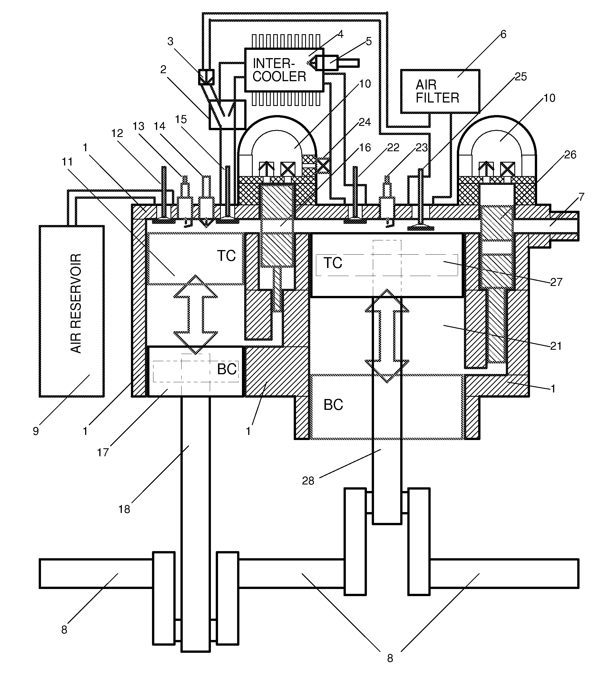 Patent Us7975485 High Efficiency Integrated Heat Engine Heihe Auto Mobile Diagram Drawing