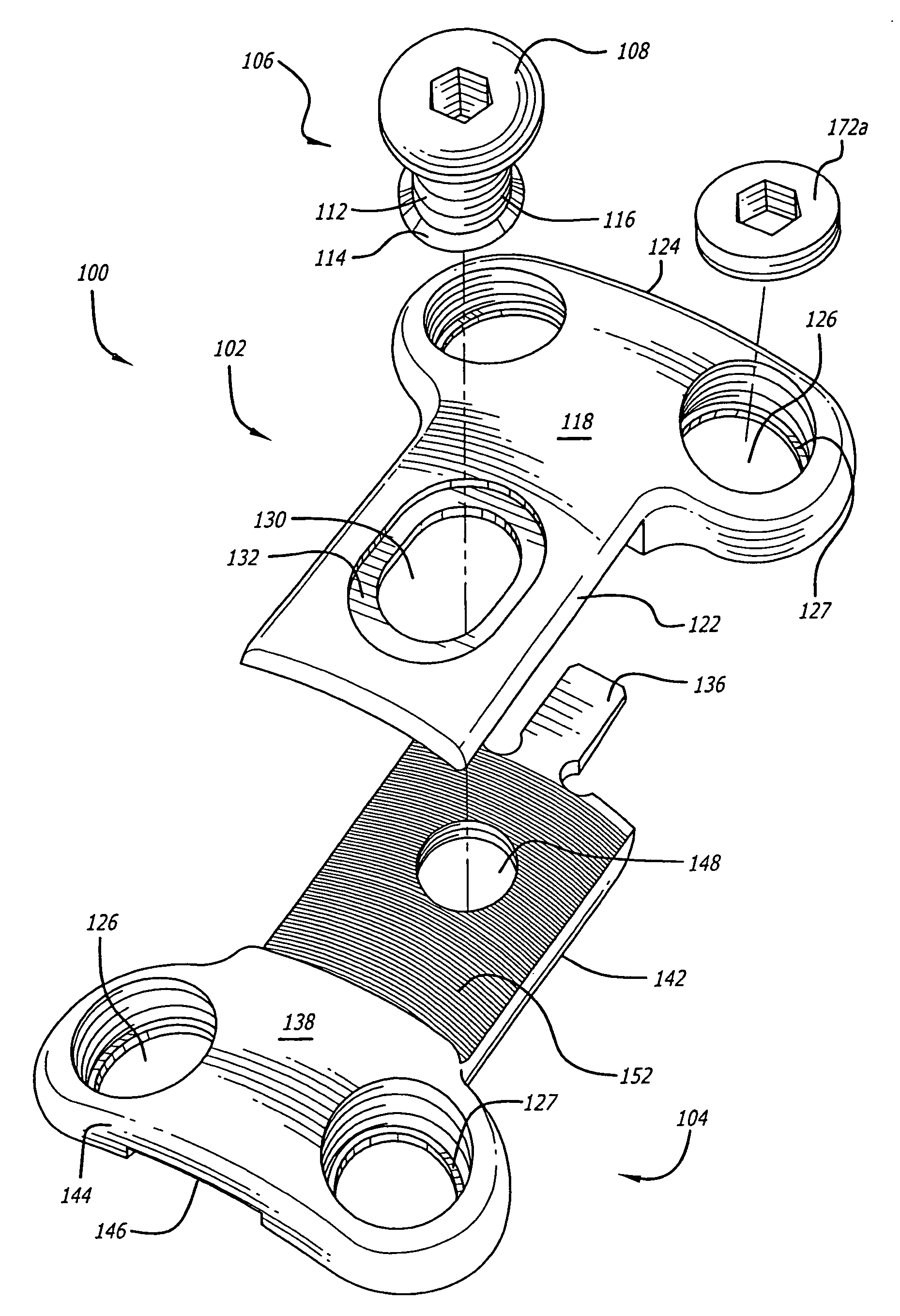 patent us7985224 method for installation of dynamic single lock NBCOT Ortho patent drawing