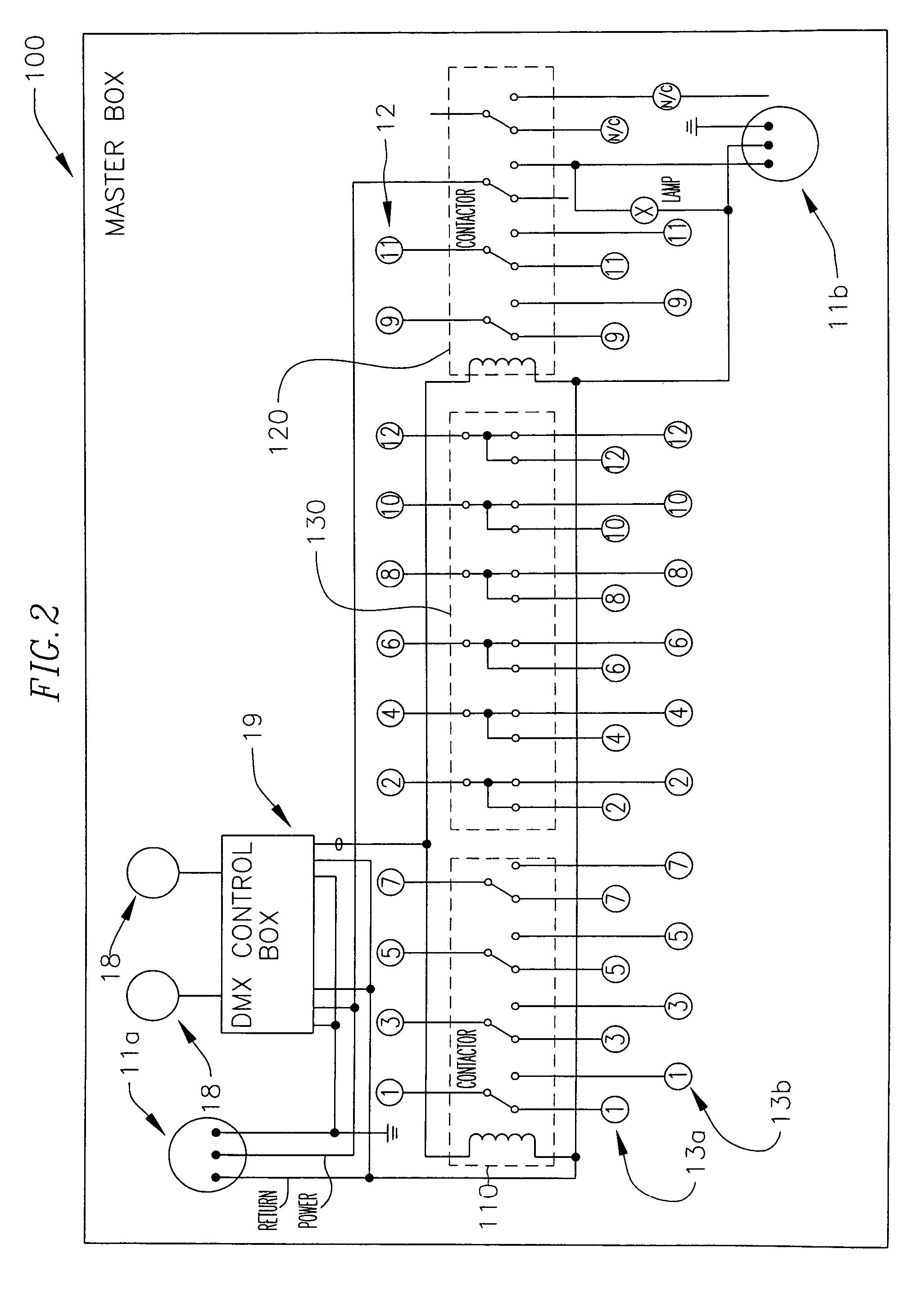 US07990082 20110802 D00003 patent us7990082 methods and systems for operating and 19 pin socapex wiring diagram at gsmx.co
