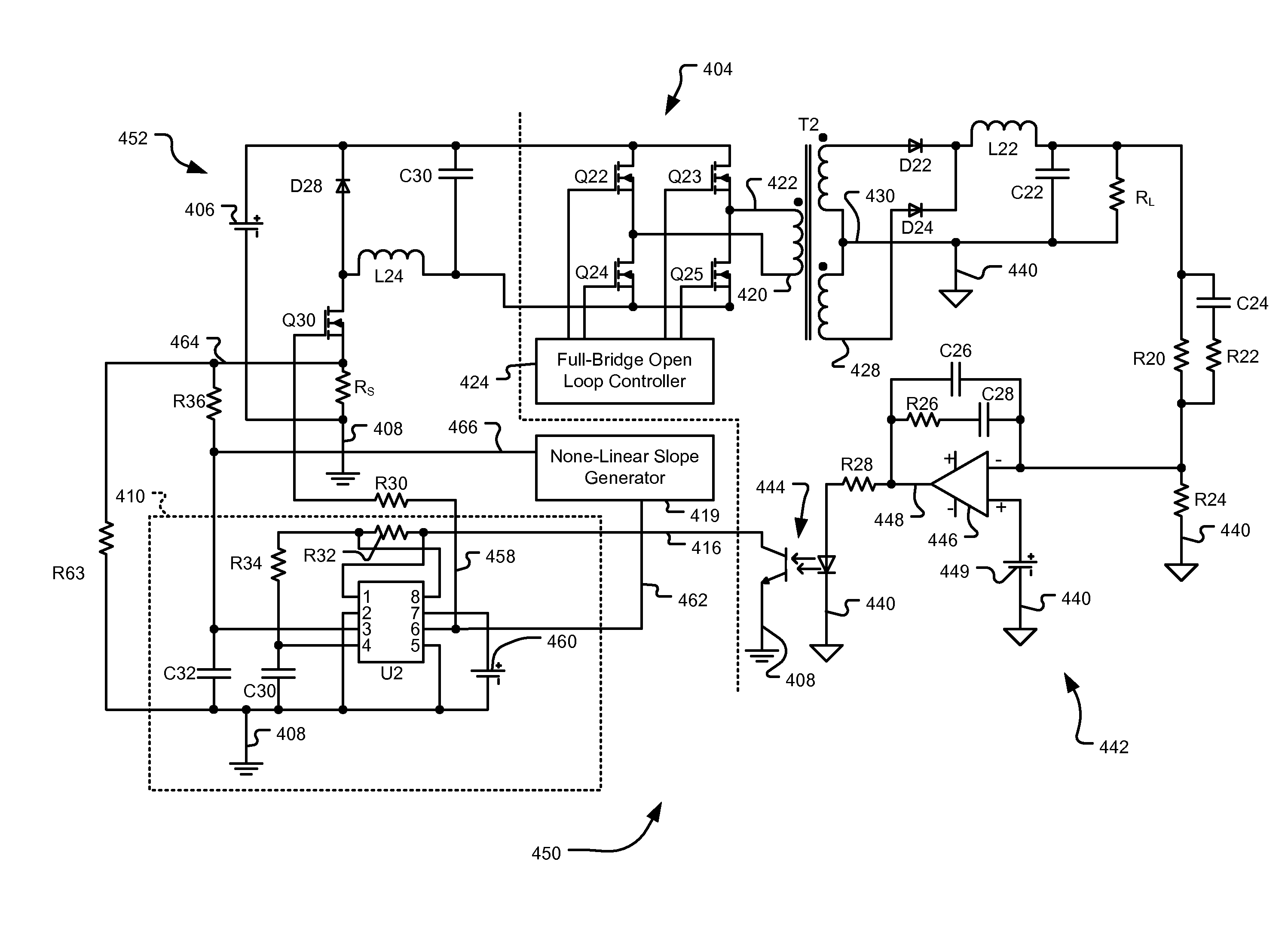 Patent Us8004253 Duty Cycle Dependent Non Linear Slope Opto Isolator Circuits Drawing