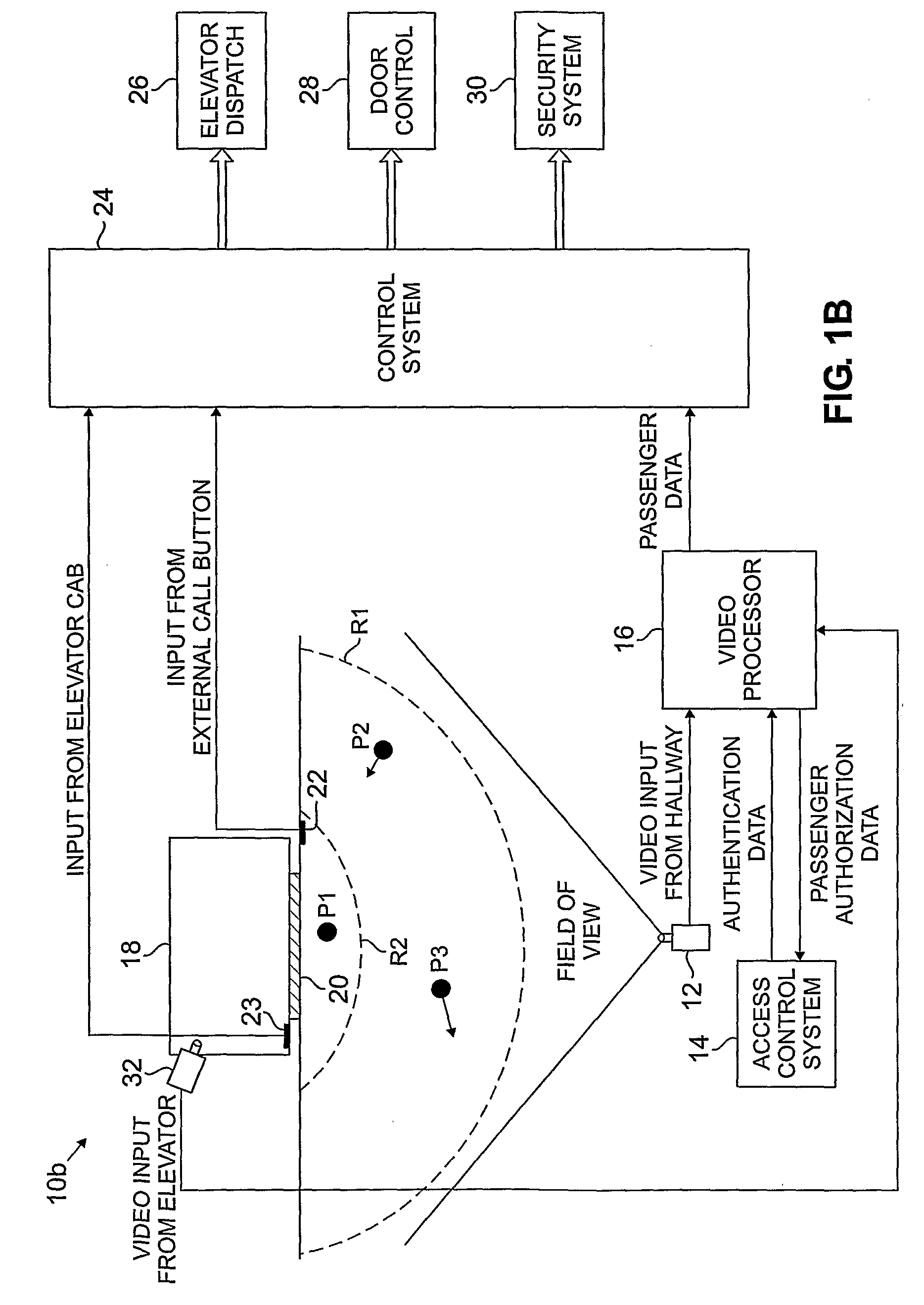 patent us8020672 - video aided system for elevator control