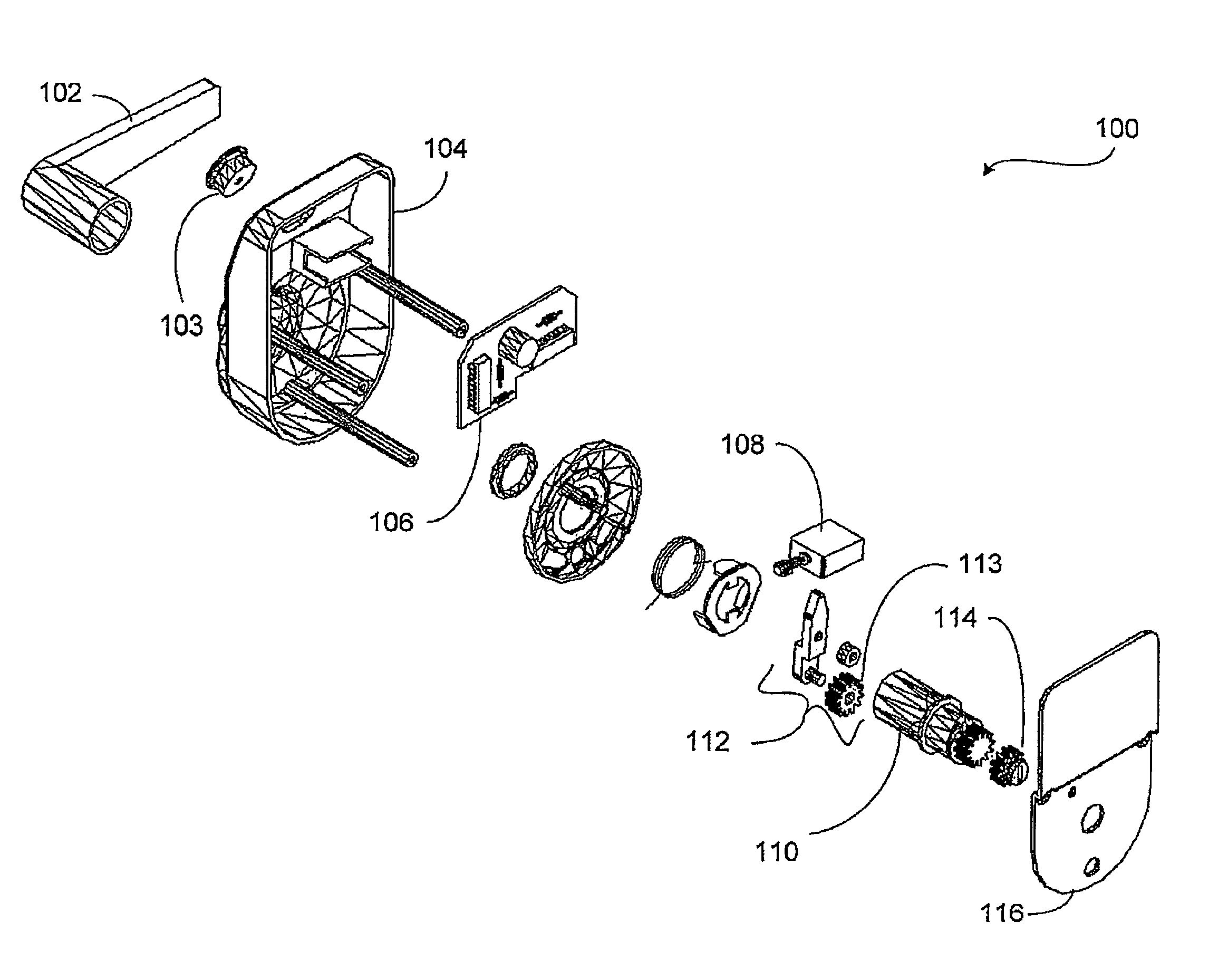Patent Us8033147 Electronic Deadbolt Lock With A