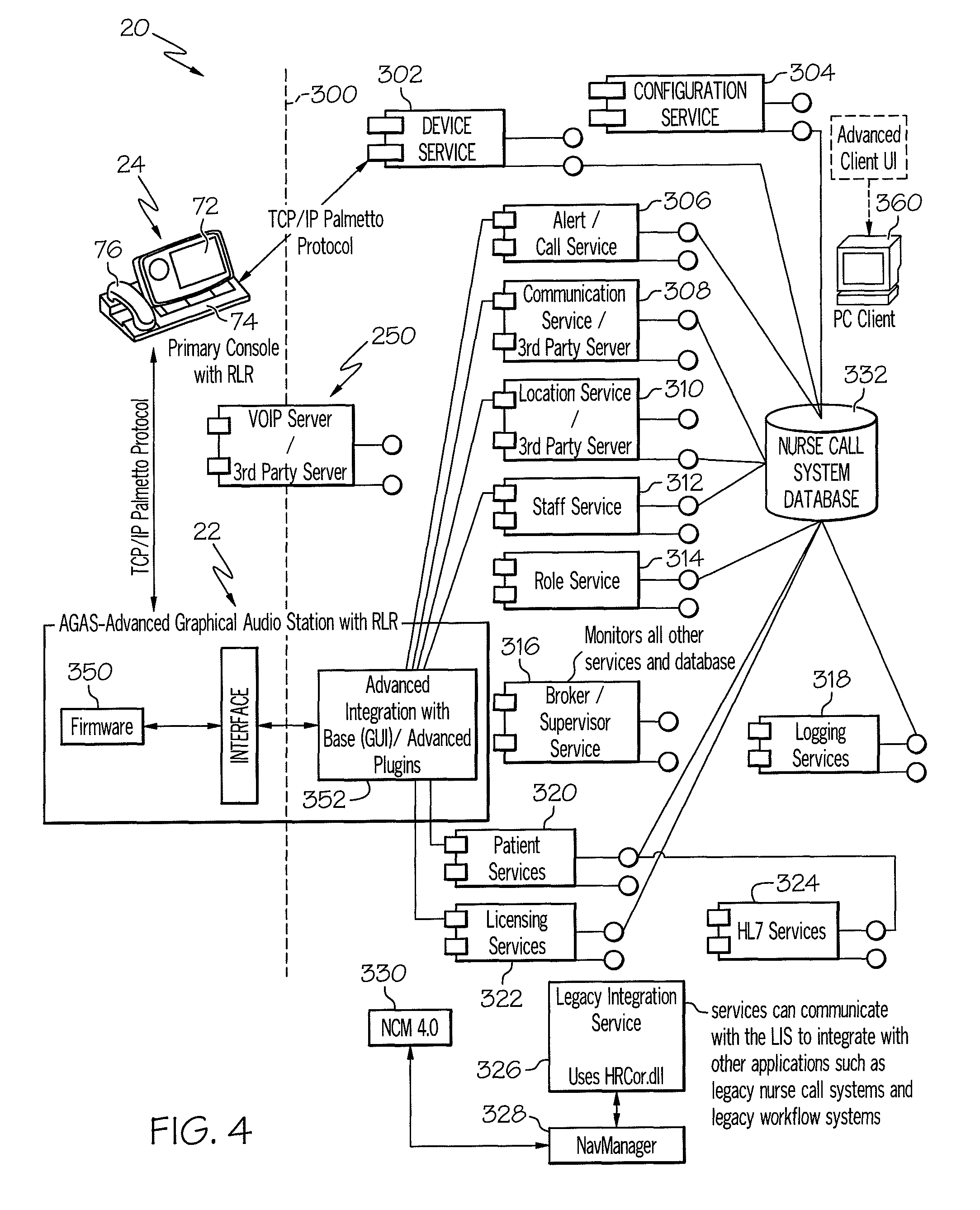 US08046625 20111025 D00004 patent us8046625 distributed fault tolerant architecture for a