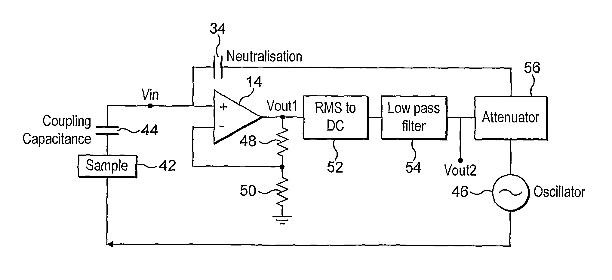 Patent Us8054061 Electric Potential Sensor Google Patentsuche Figure 1 Block Diagram Of Capacitively Coupled Emg Electrode Drawing