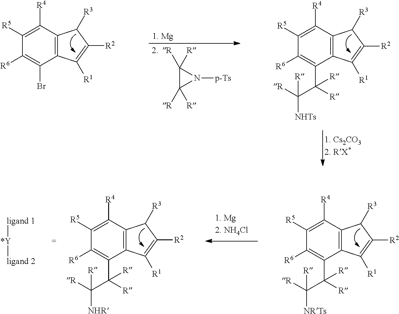 Us8058461b2 Mono Indenyl Transition Metal Compounds And Sisir Set Ts 222 Figure Us08058461 20111115 C00007