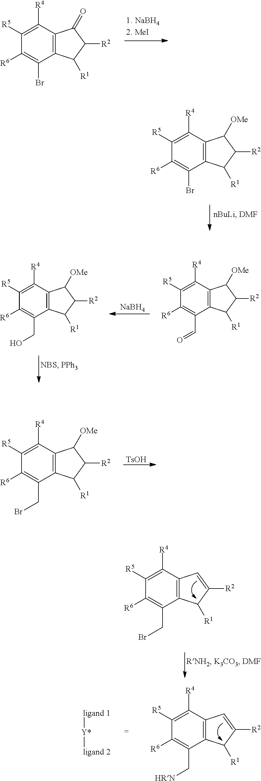Us8058461b2 Mono Indenyl Transition Metal Compounds And Sisir Set Ts 222 Figure Us08058461 20111115 C00009